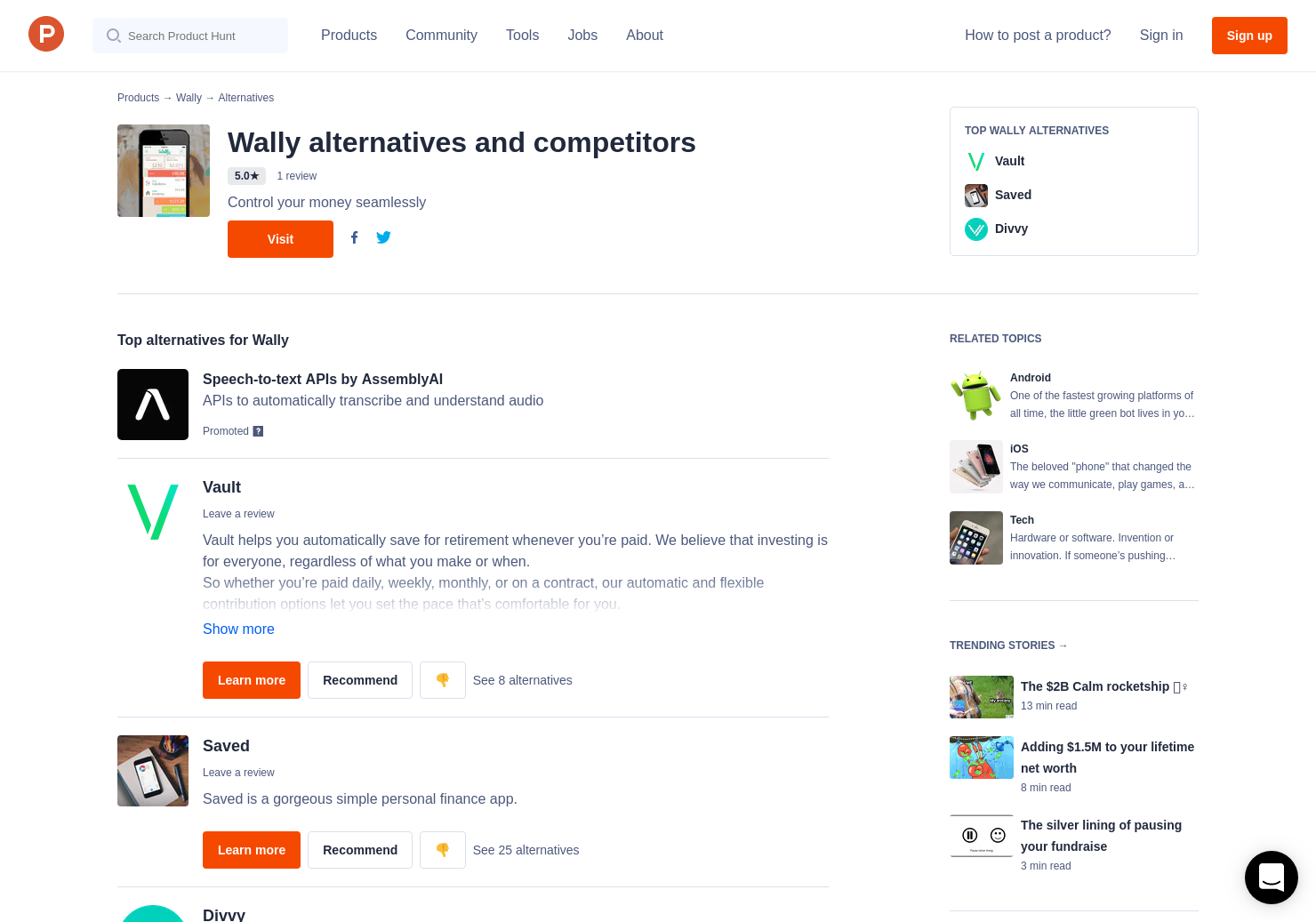 11 Alternatives to Wally for Android, iPhone | Product Hunt
