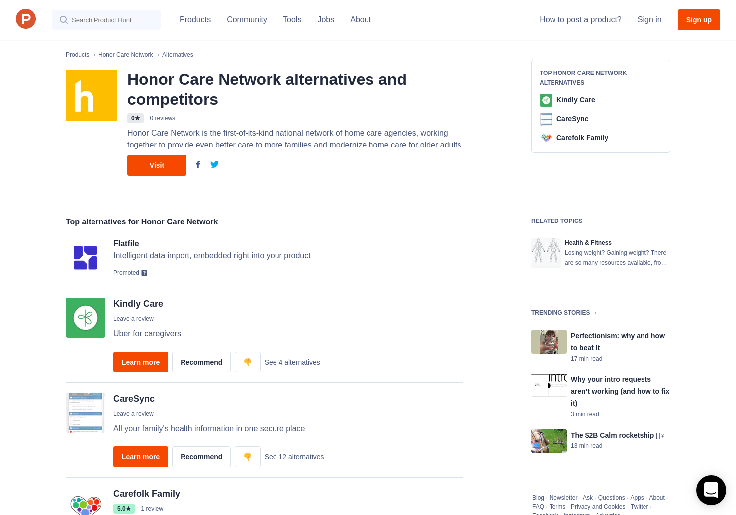 4 Alternatives to Honor Care Network | Product Hunt