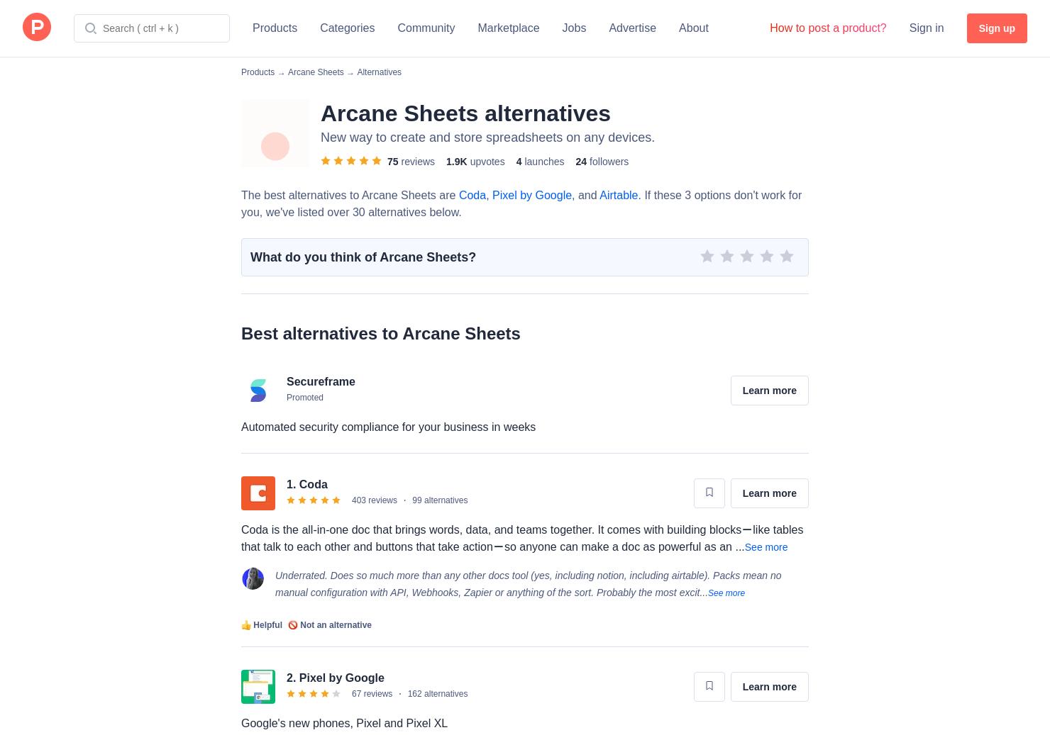 6 Alternatives to Arcane Sheets | Product Hunt