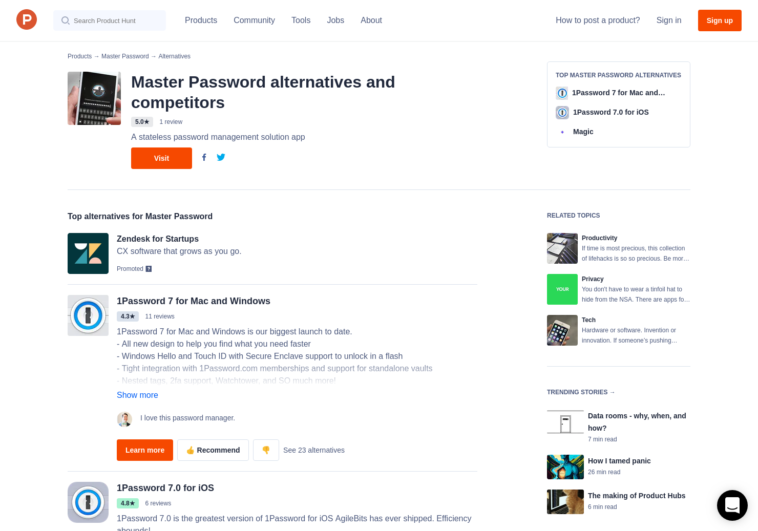 18 Alternatives to Master Password | Product Hunt
