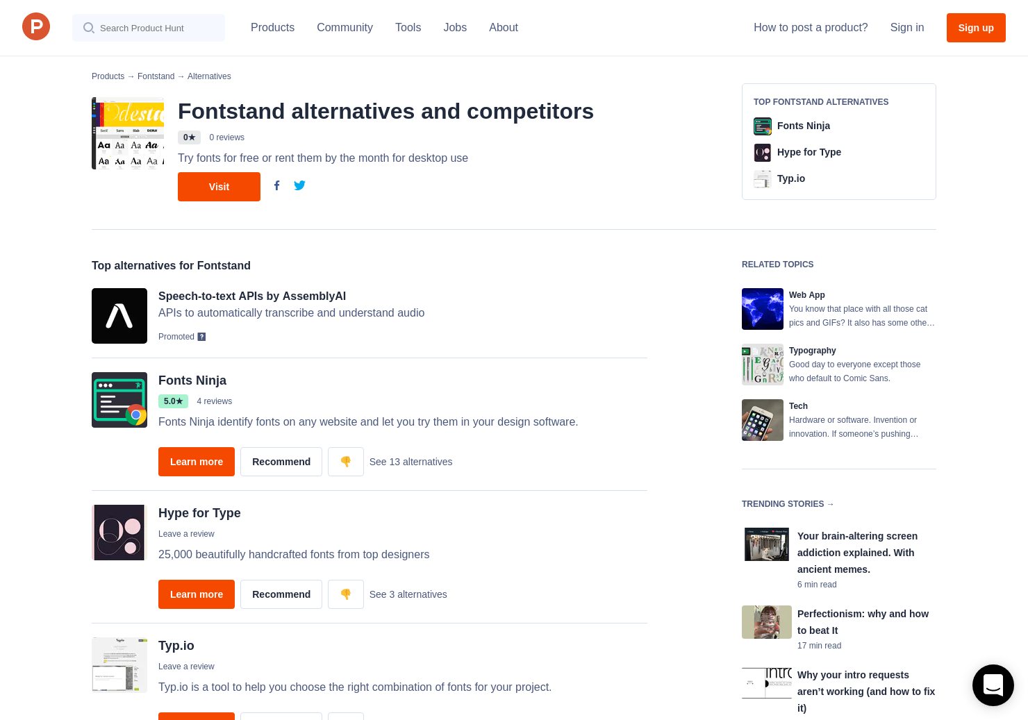 7 Alternatives to Fontstand | Product Hunt