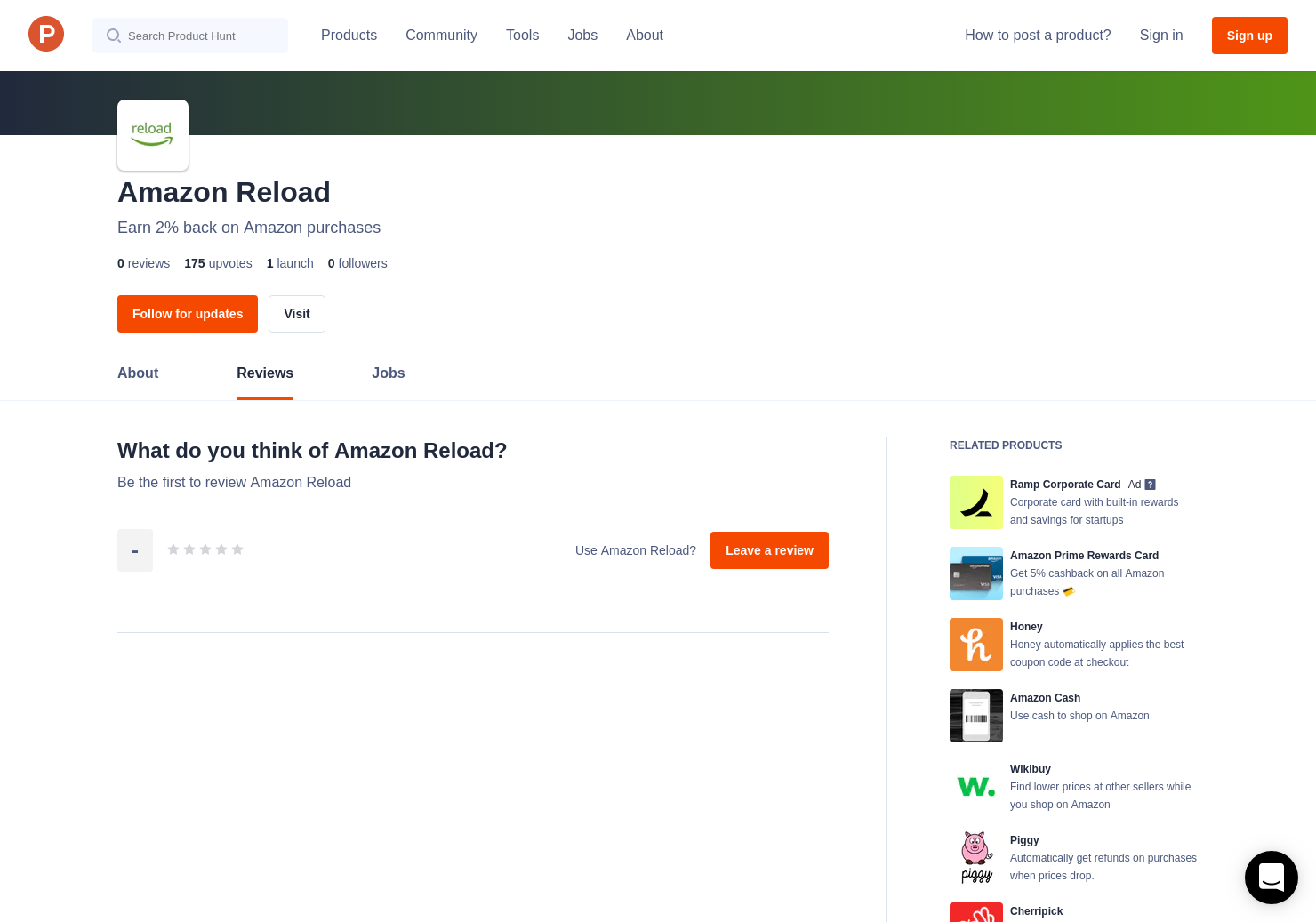 Amazon Reload Reviews - Pros, Cons and Rating | Product Hunt