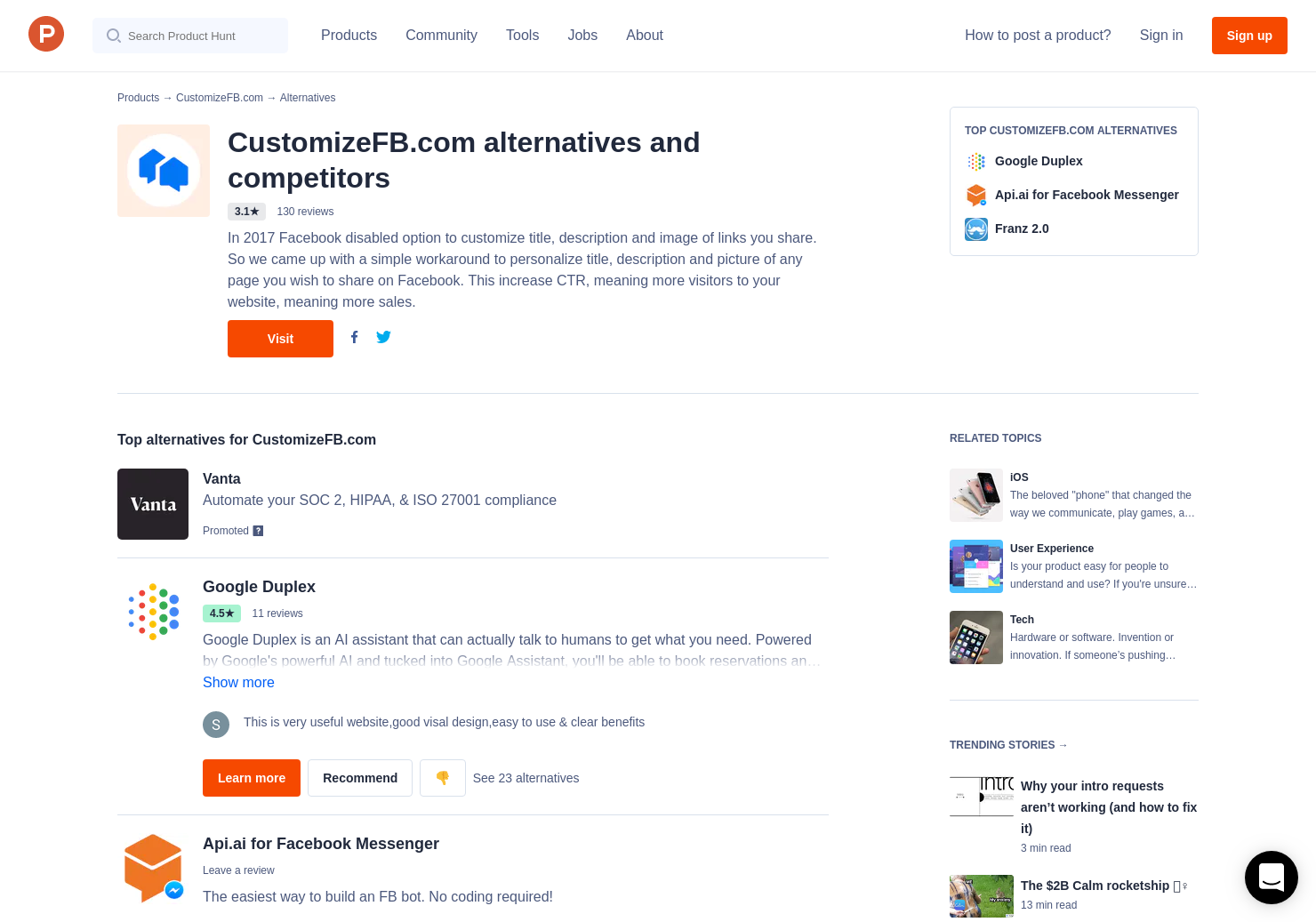 8 Alternatives to Facial Recognition by FB | Product Hunt