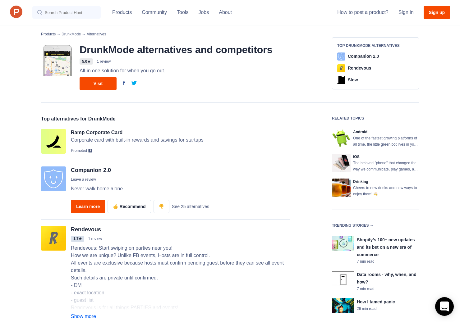 9 Alternatives to Drunk Mode for Android, iPhone | Product Hunt