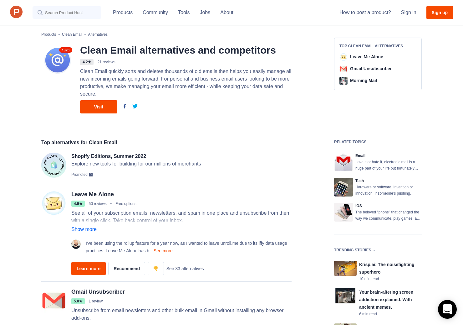 9 Alternatives to CleanEmail | Product Hunt