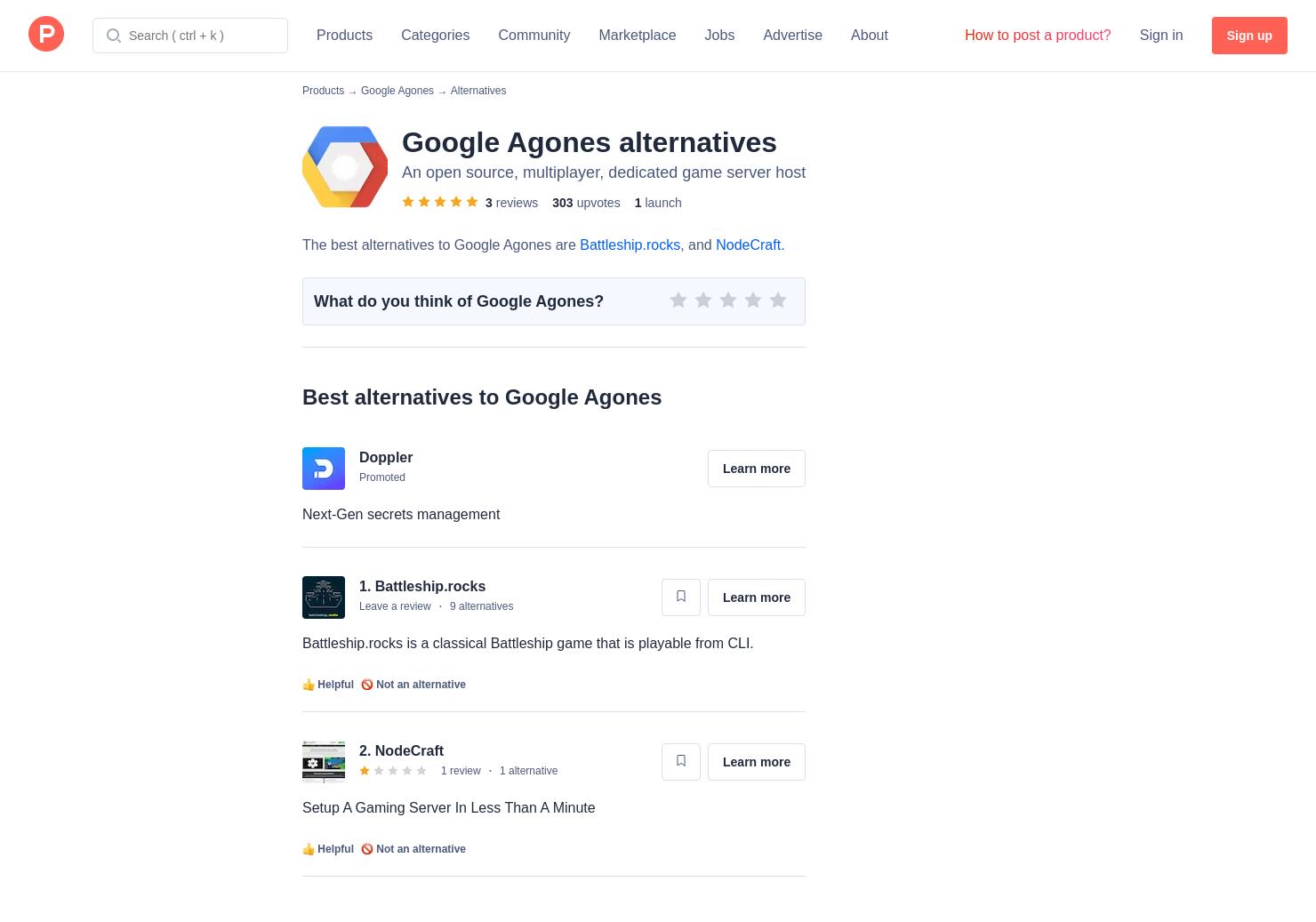 5 Alternatives to Google Agones | Product Hunt
