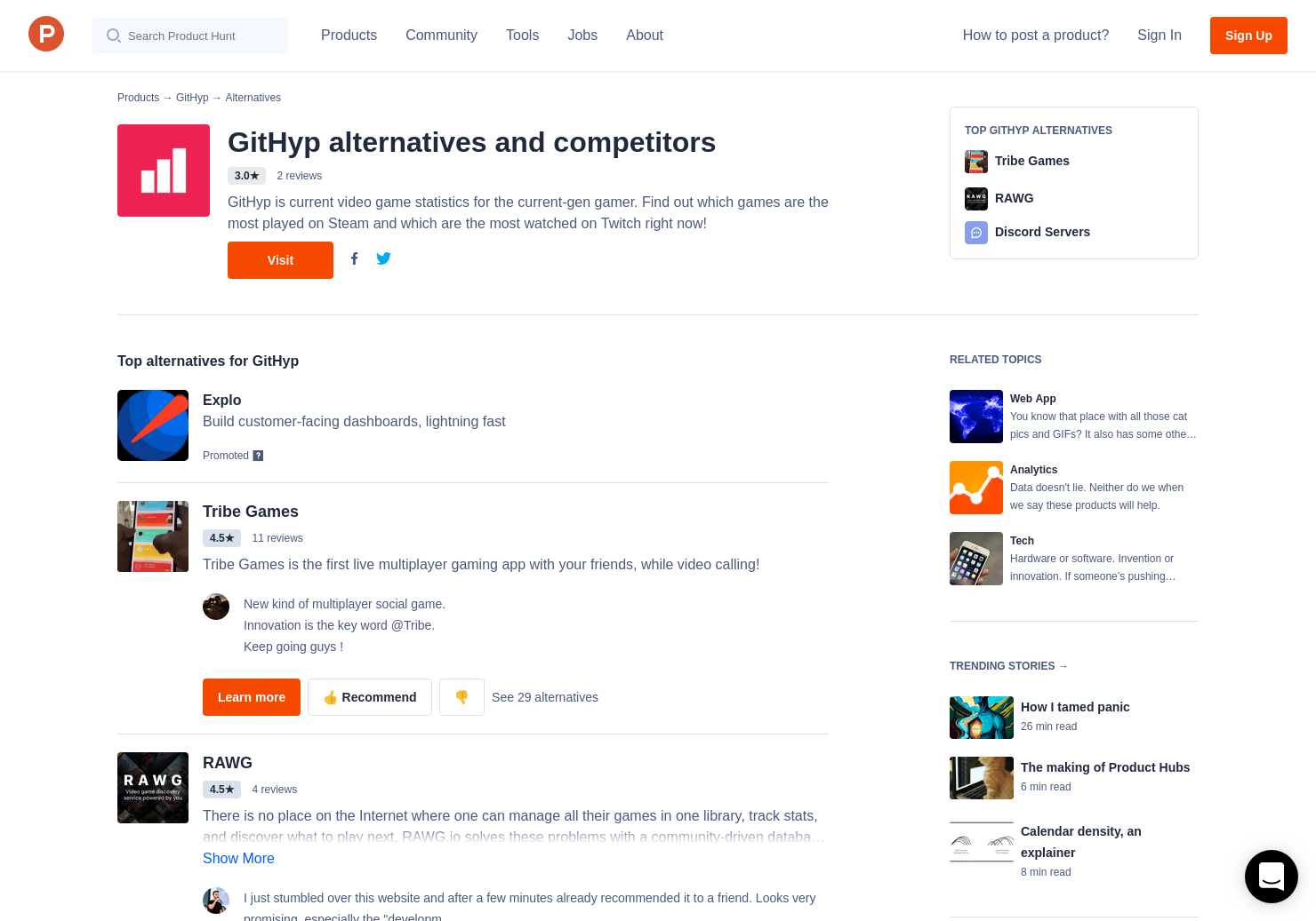 22 Alternatives to GitHyp | Product Hunt