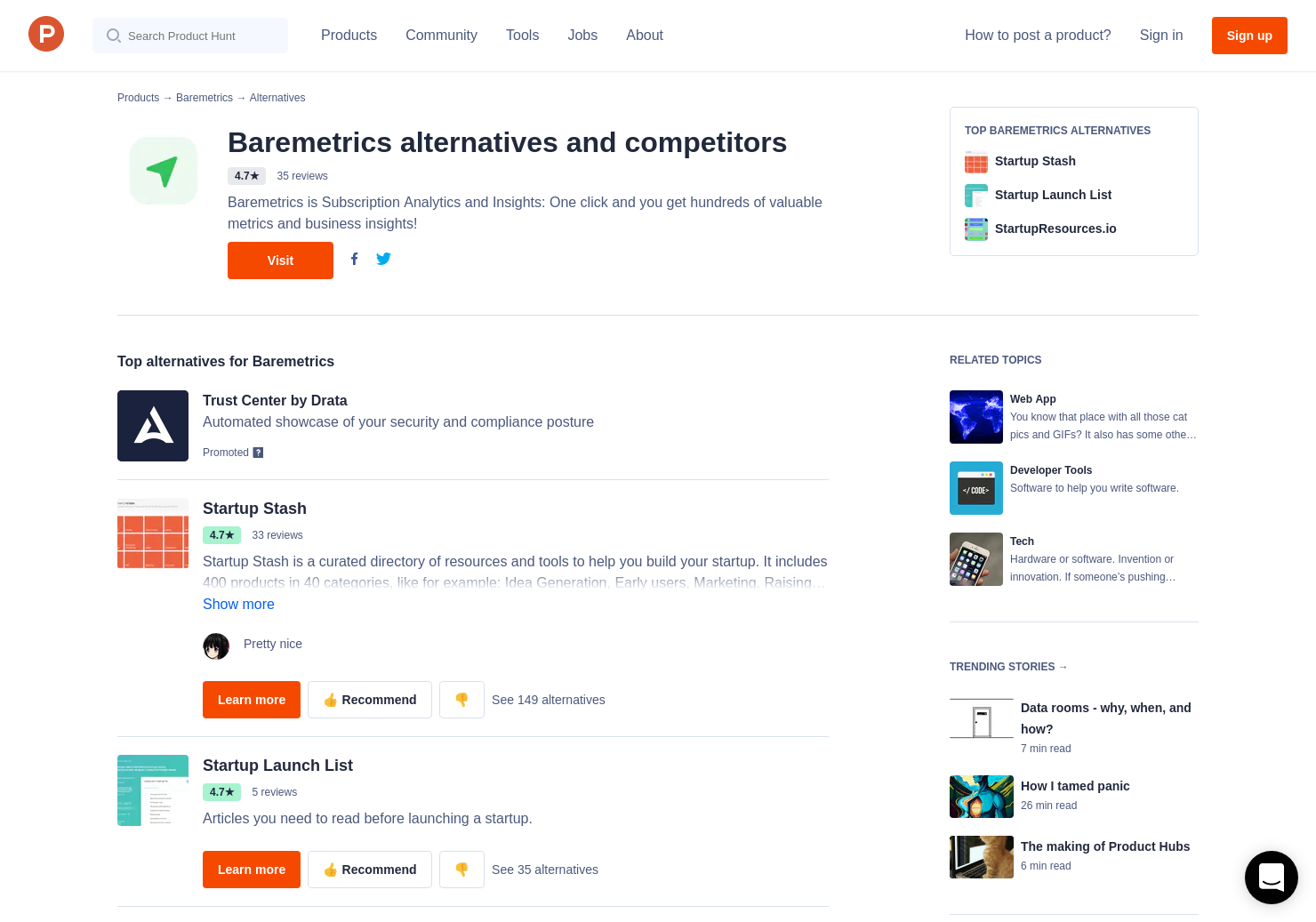 4 Alternatives to Baremetrics for Apple App Store Connect
