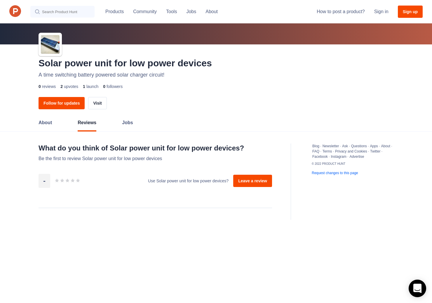 Solar Power Unit For Low Devices Reviews Pros Cons And Charger Circuits Rating Product Hunt