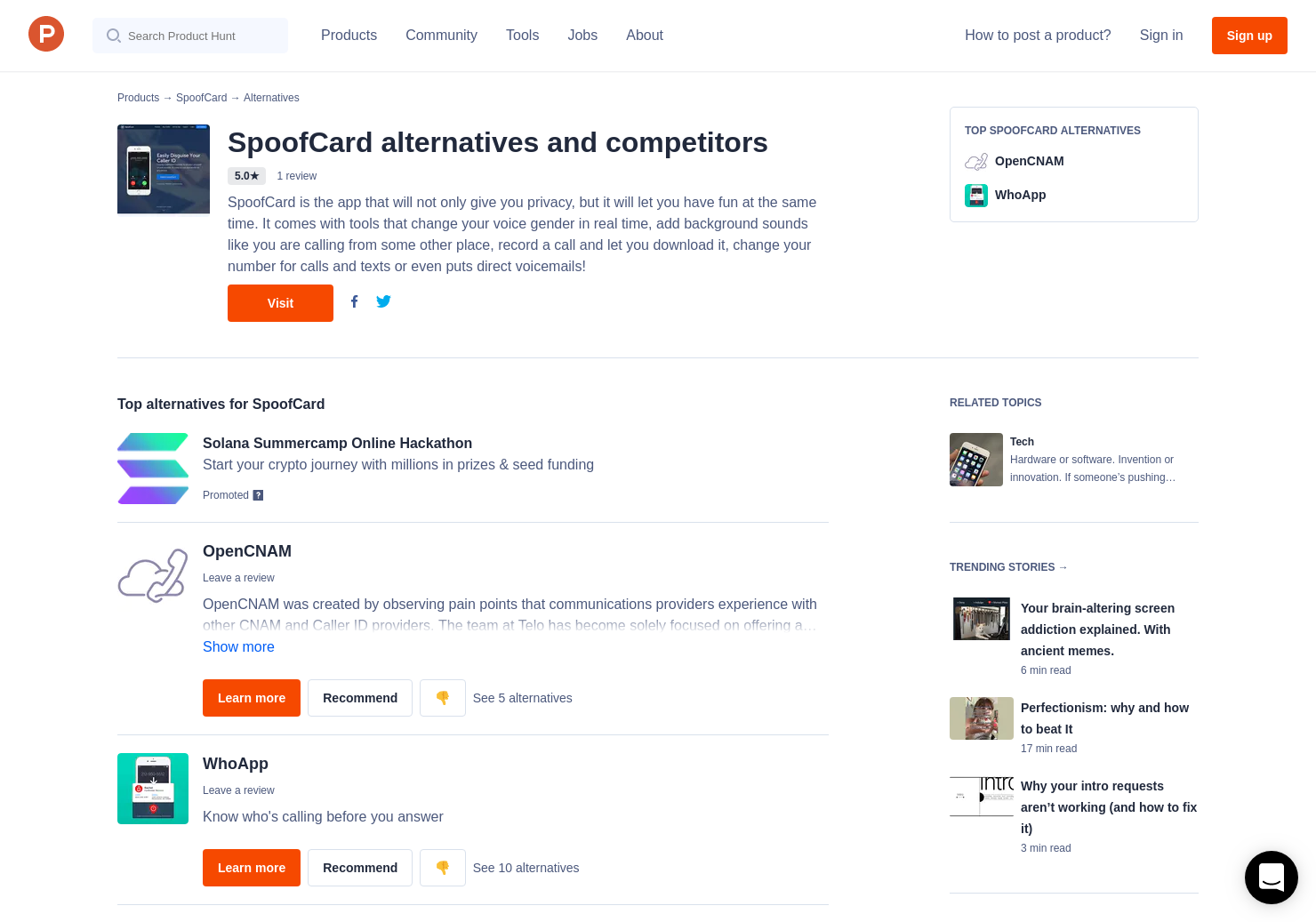 2 Alternatives to SpoofCard | Product Hunt