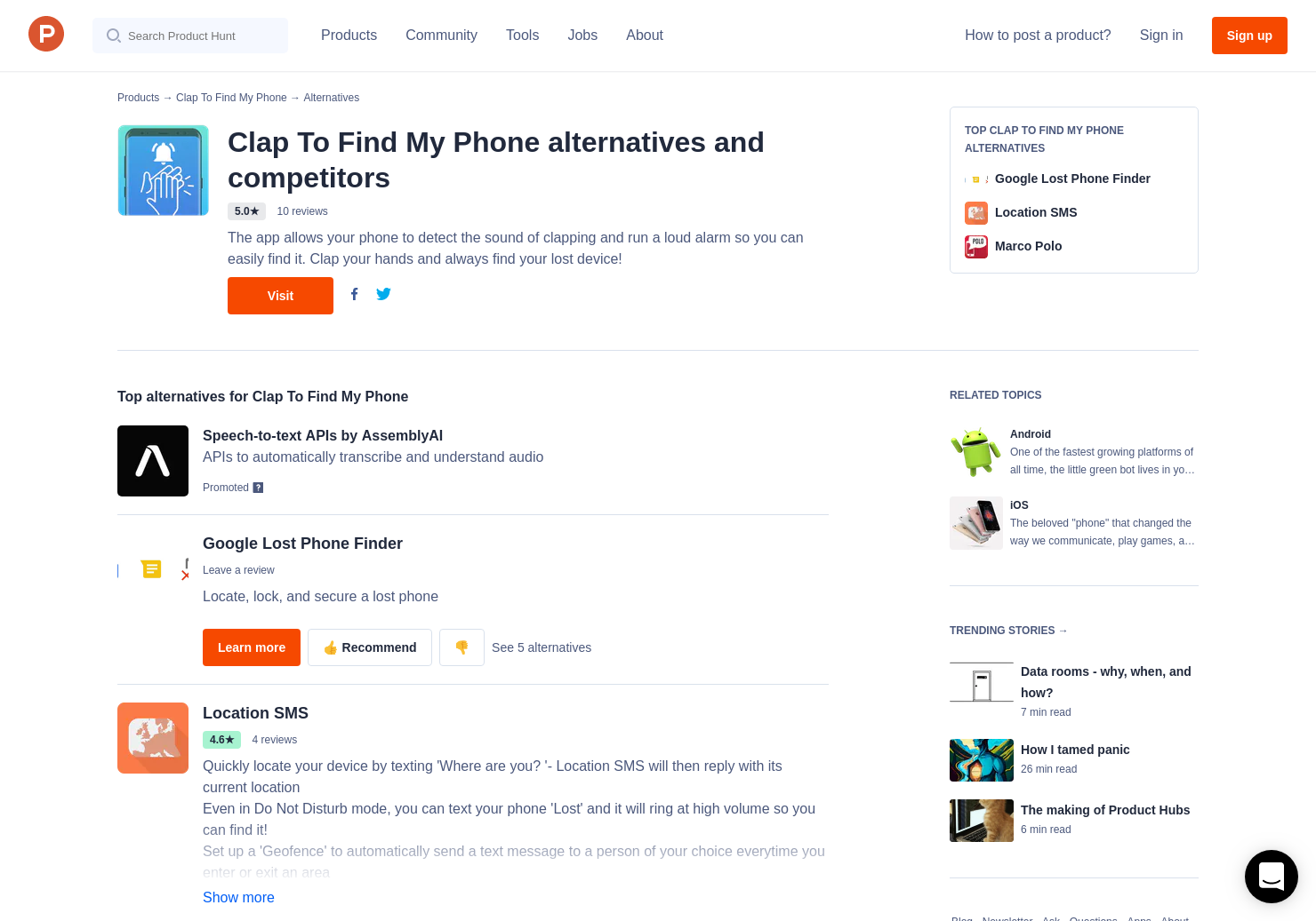 10 Alternatives to Clap To Find My Phone for Android, iPhone