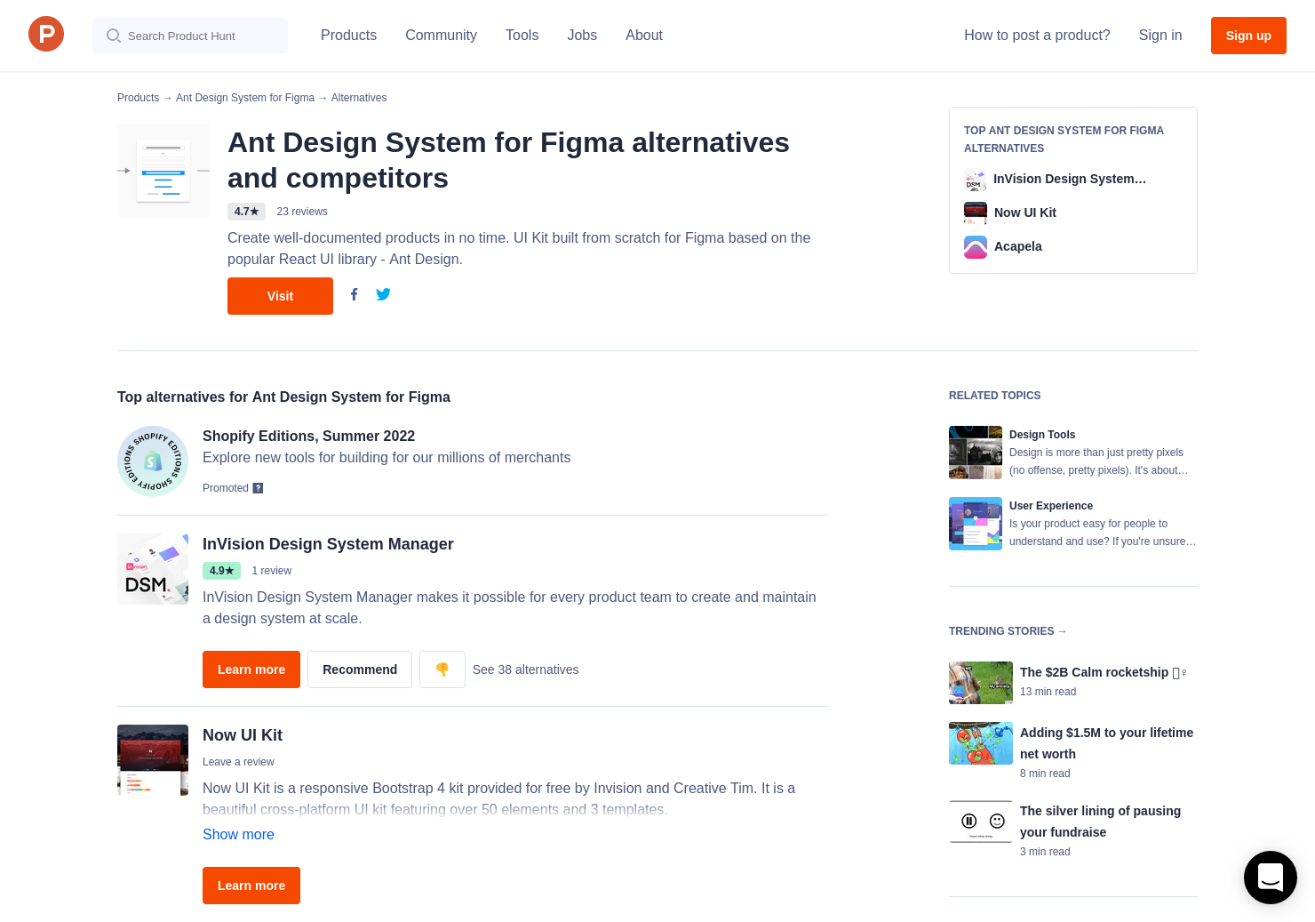 7 Alternatives to Ant Design System for Figma | Product Hunt