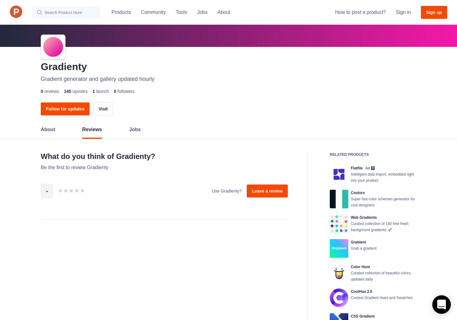 Gradienty Reviews - Pros, Cons and Rating | Product Hunt