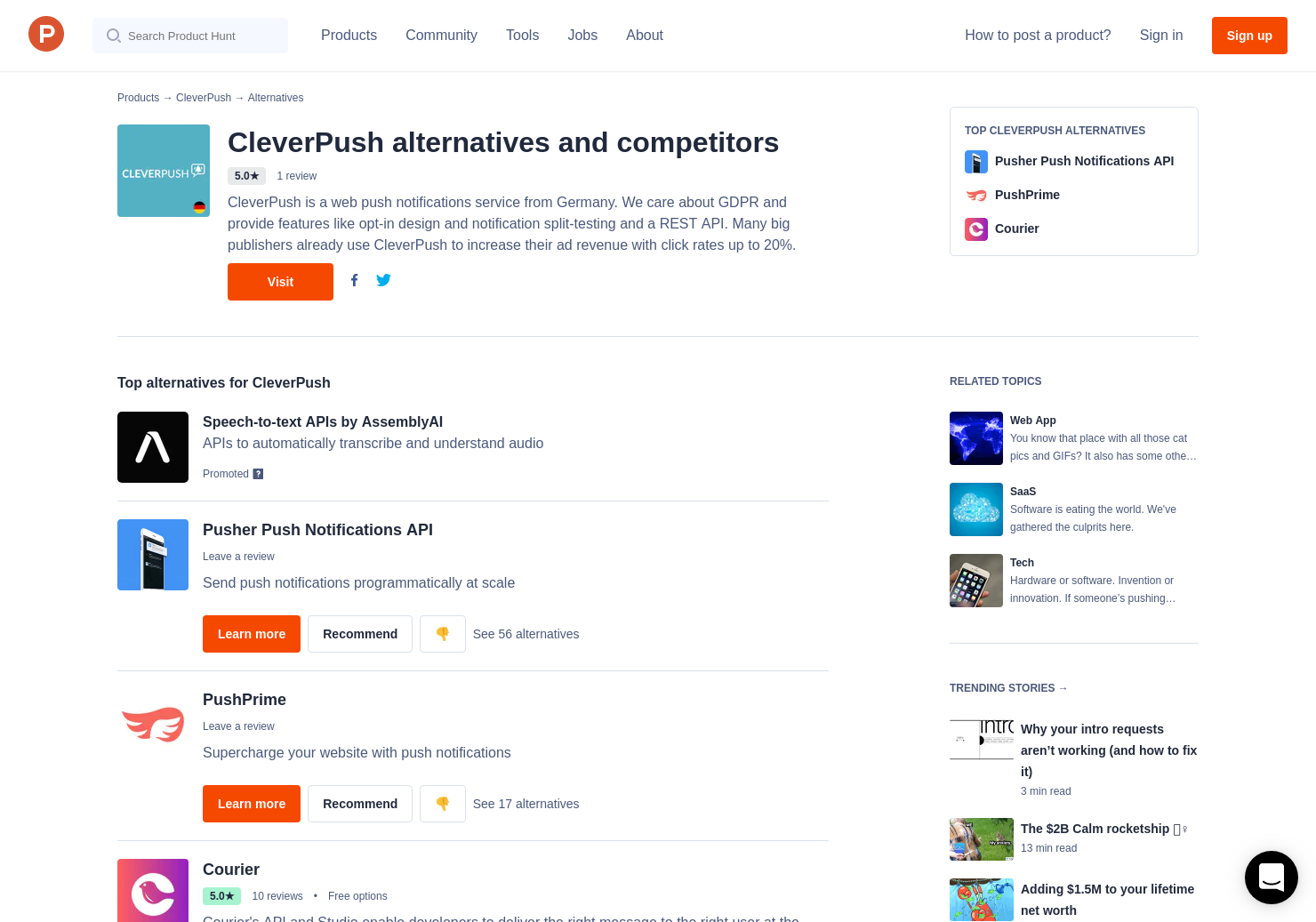13 Alternatives to CleverPush | Product Hunt