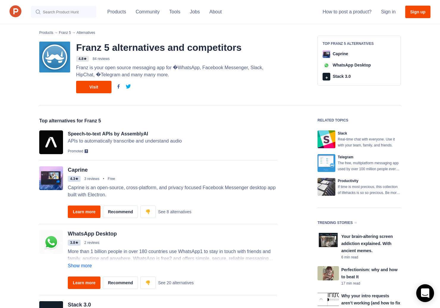 16 Alternatives to Franz 5 | Product Hunt