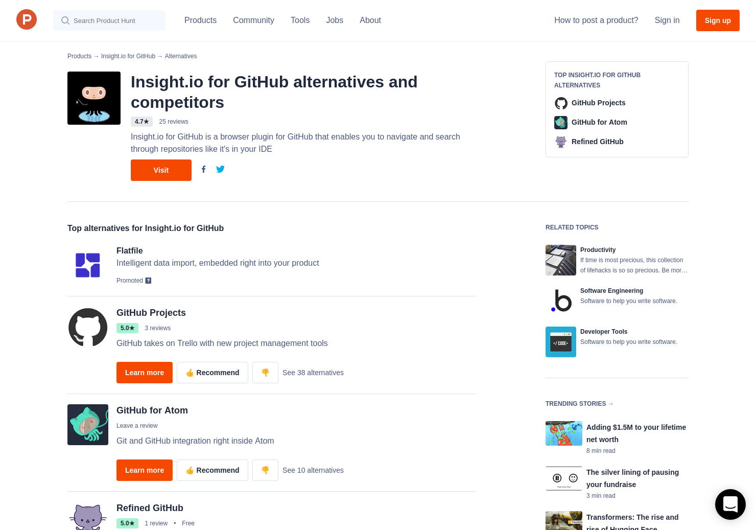 15 Alternatives to Insight io for GitHub   Product Hunt