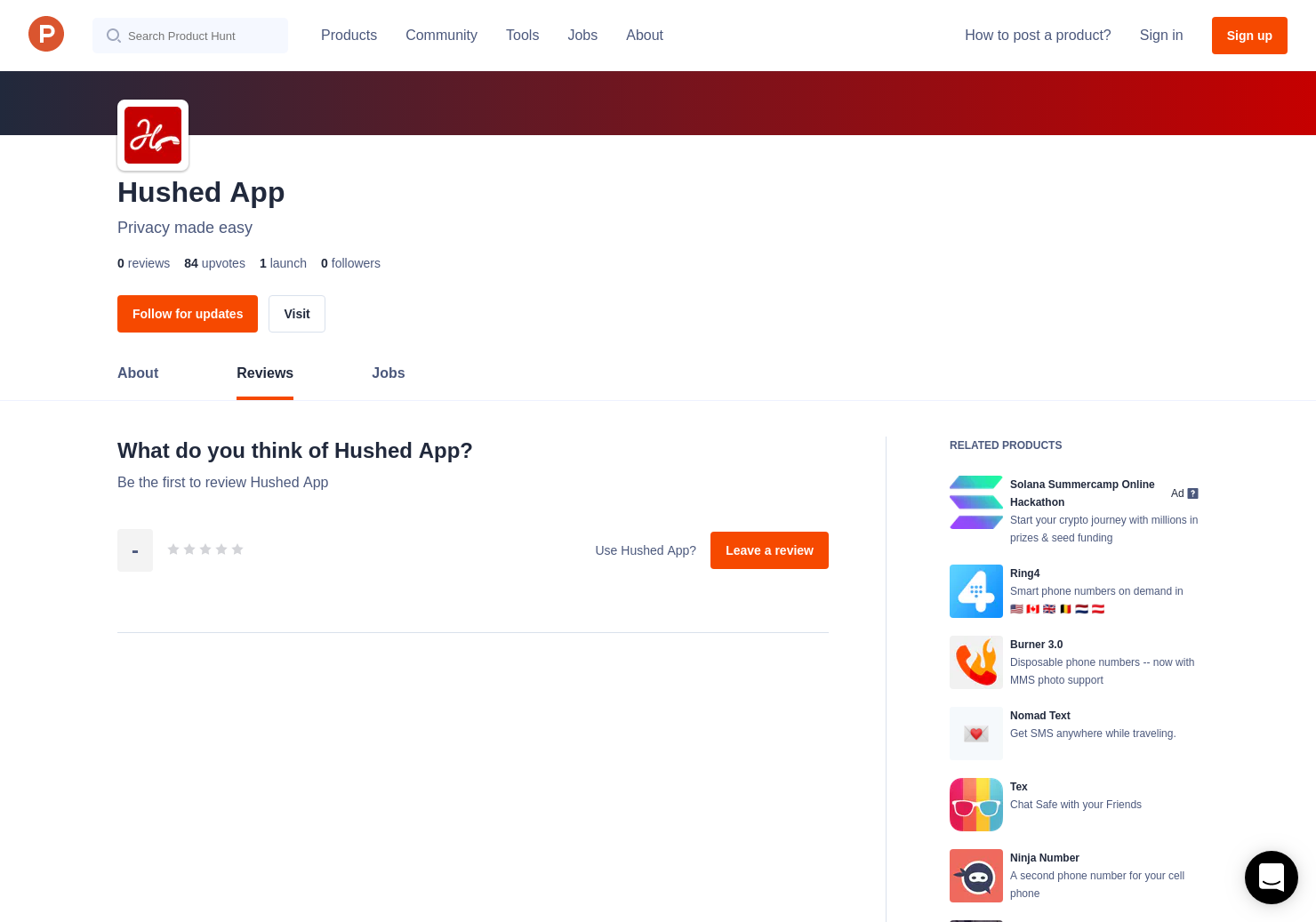 Hushed App Reviews - Pros, Cons and Rating   Product Hunt