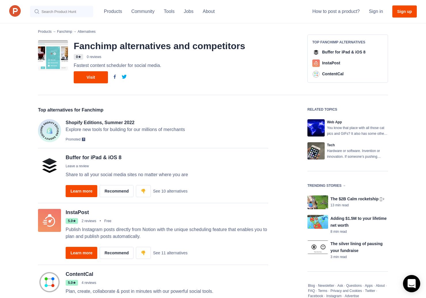5 Alternatives to Fanchimp | Product Hunt