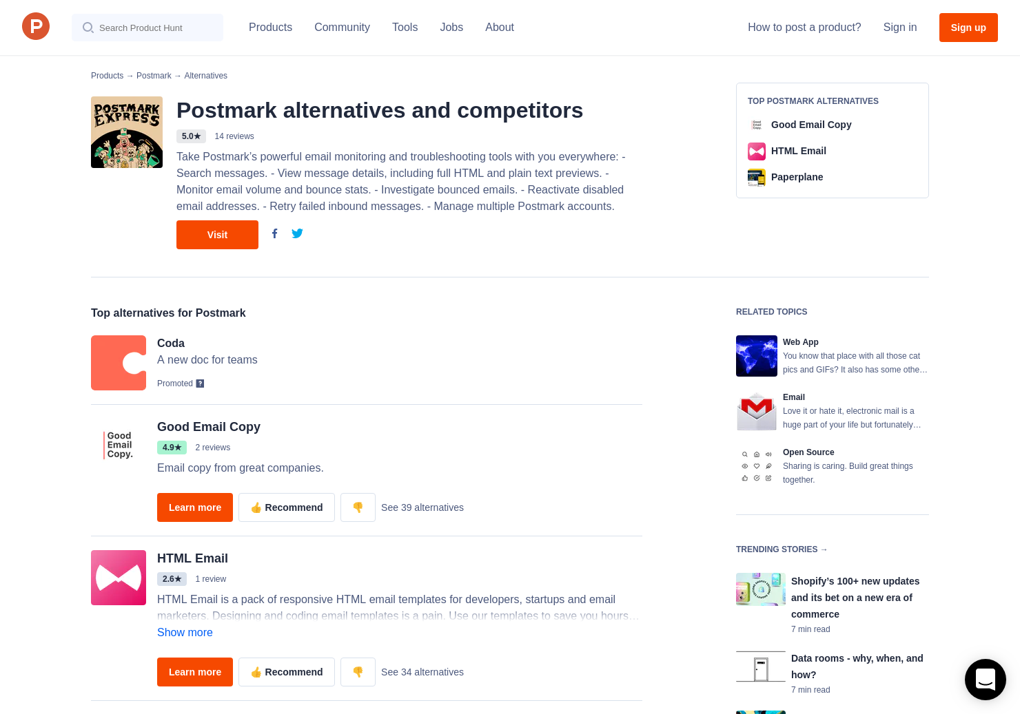 Alternatives To Transactional Email Templates By Postmark - Transactional email templates