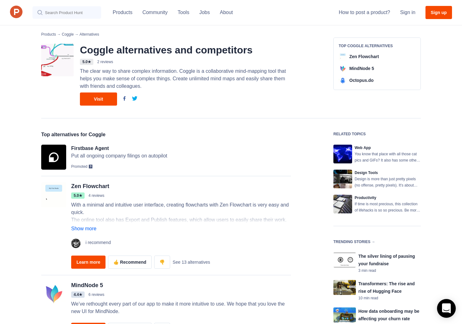 7 Alternatives to Coggle | Product Hunt