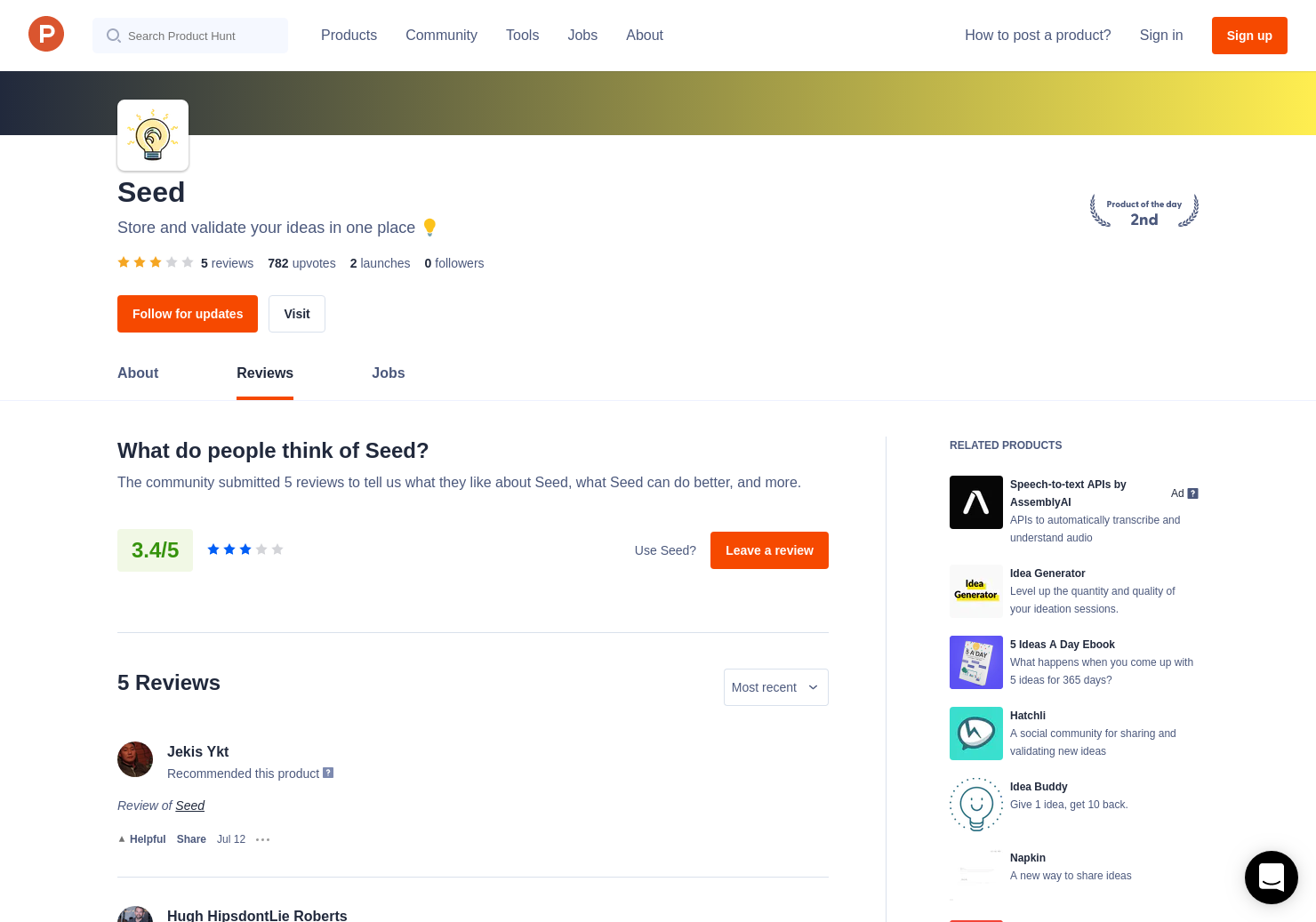 1 Seed Reviews - Pros, Cons and Rating | Product Hunt