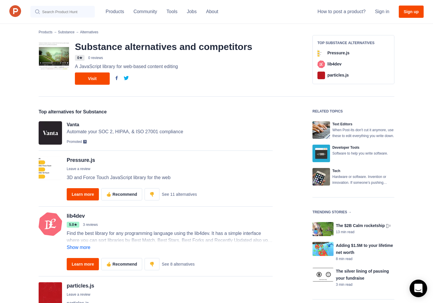 6 Alternatives to Substance | Product Hunt