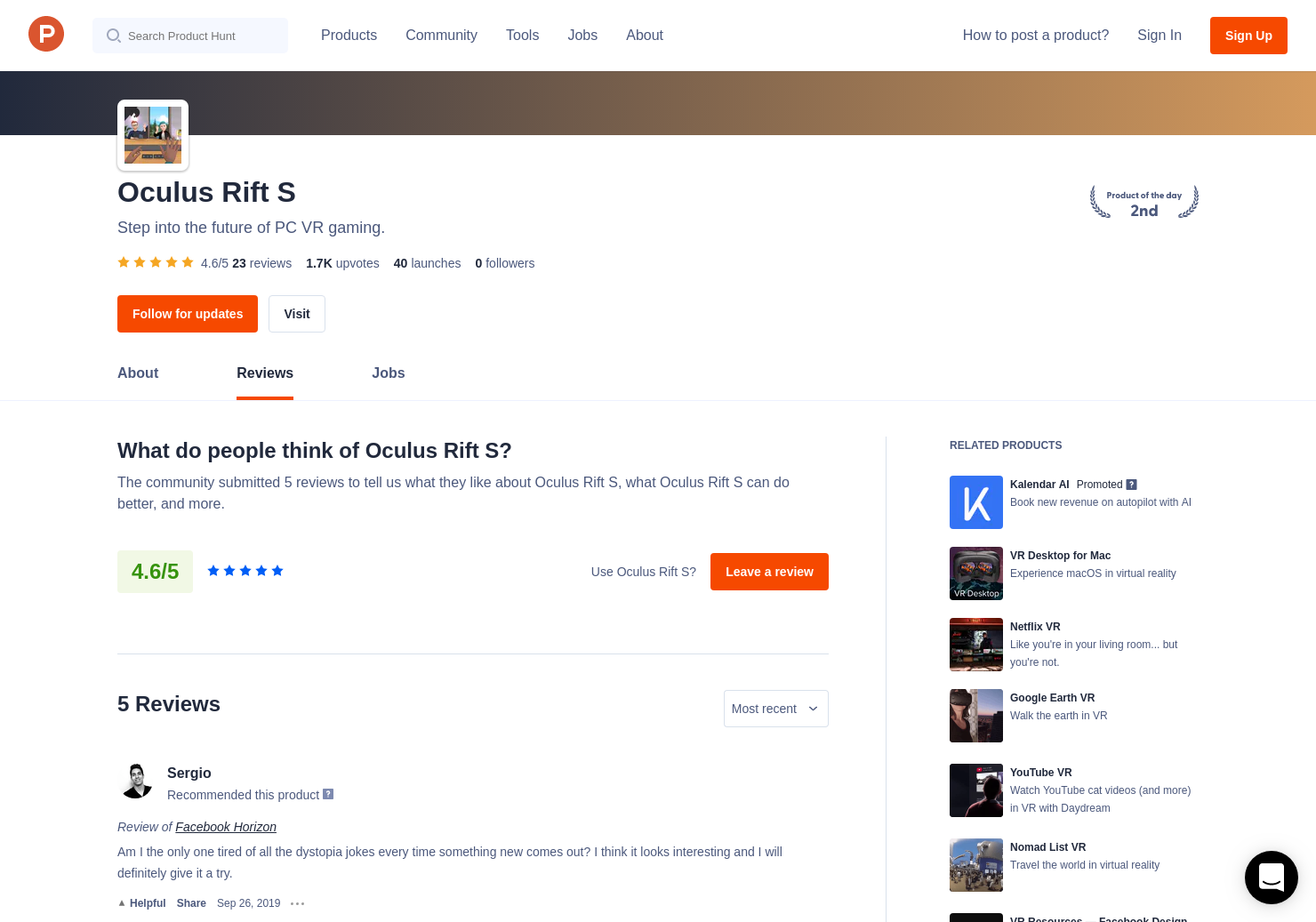 Oculus TV Reviews - Pros, Cons and Rating | Product Hunt
