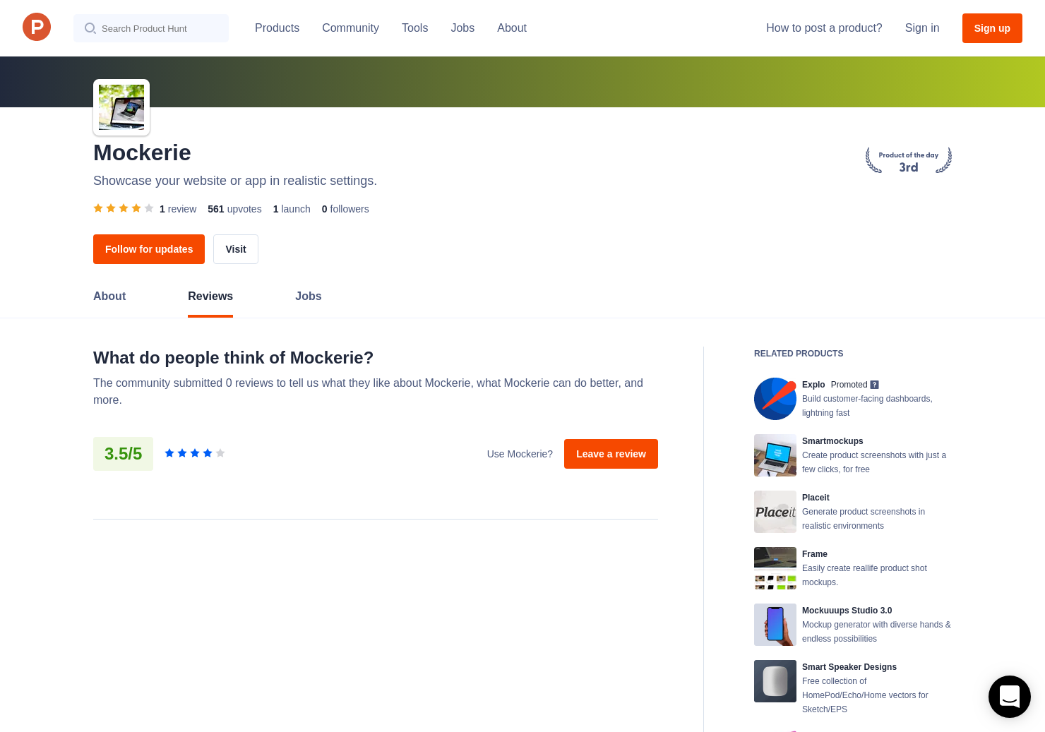 1 Mockerie Reviews - Pros, Cons and Rating | Product Hunt