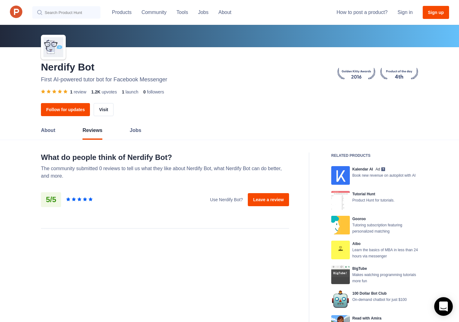 1 Nerdify Bot Reviews - Pros, Cons and Rating   Product Hunt