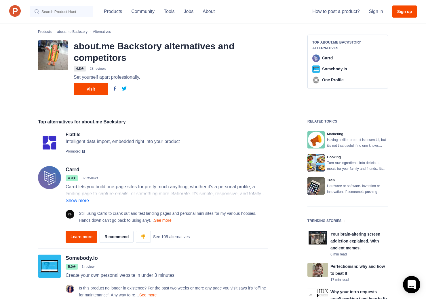 29 Alternatives To About Me For Iphone Product Hunt