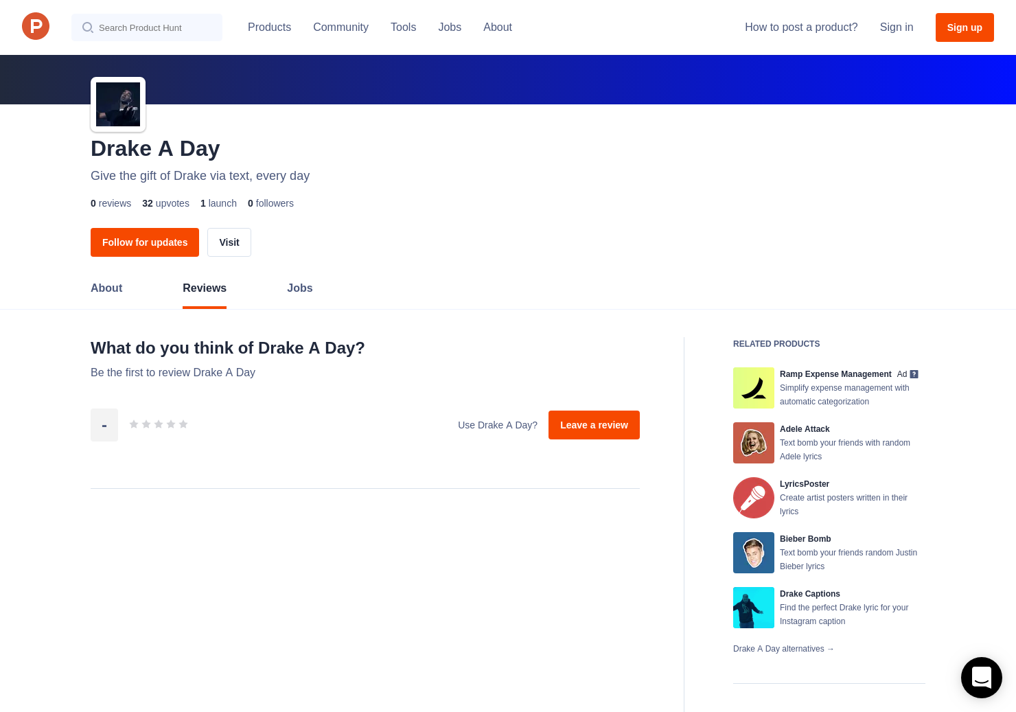 Drake A Day Reviews Pros Cons And Rating Product Hunt