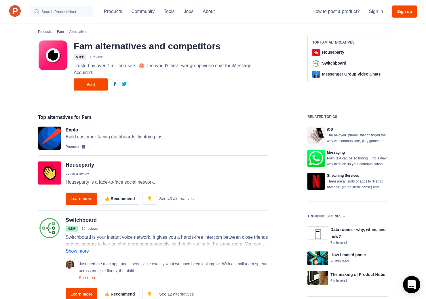 23 Alternatives to Fam for iPhone | Product Hunt