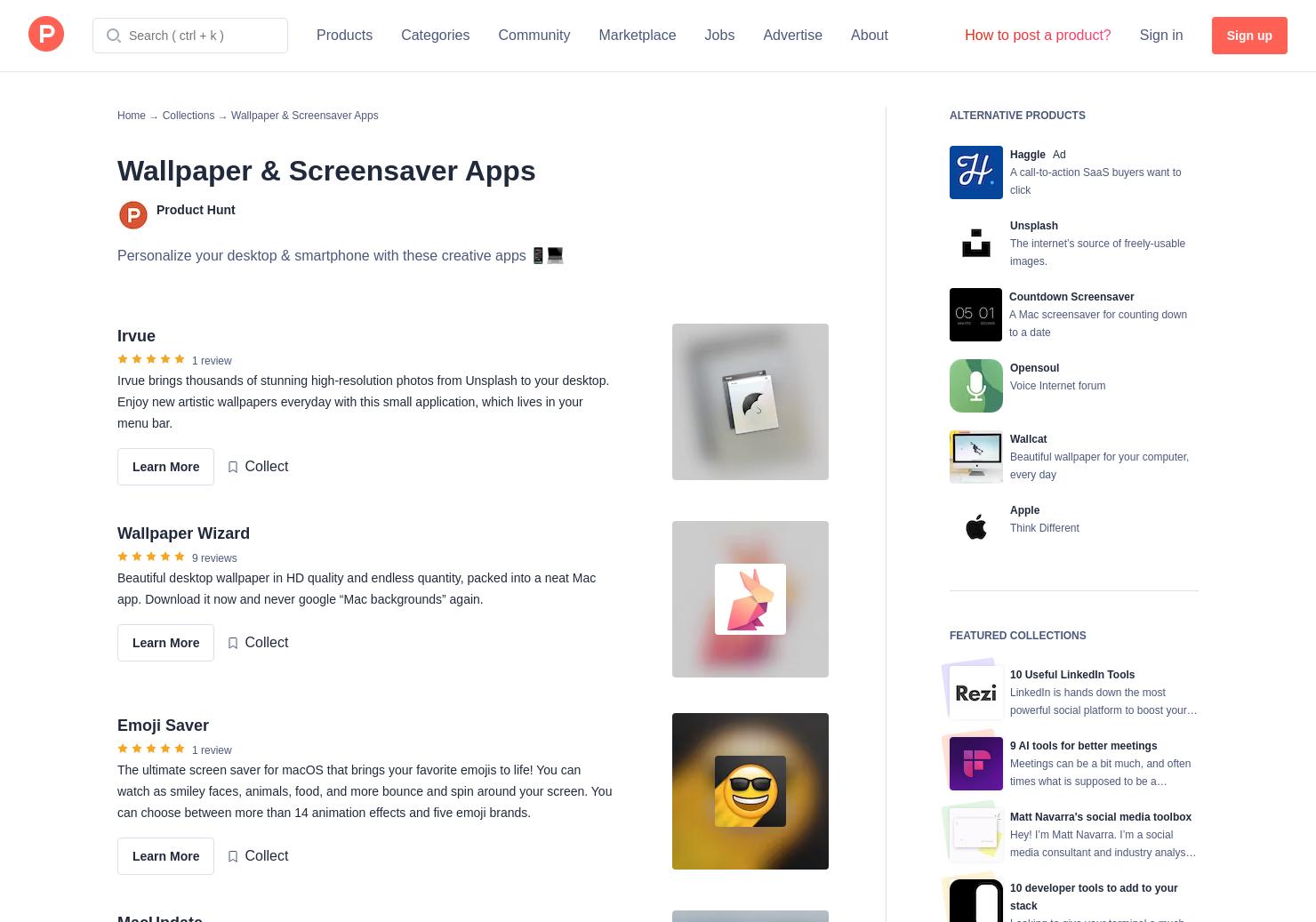 Wallpaper & Screensaver Apps   Product Hunt