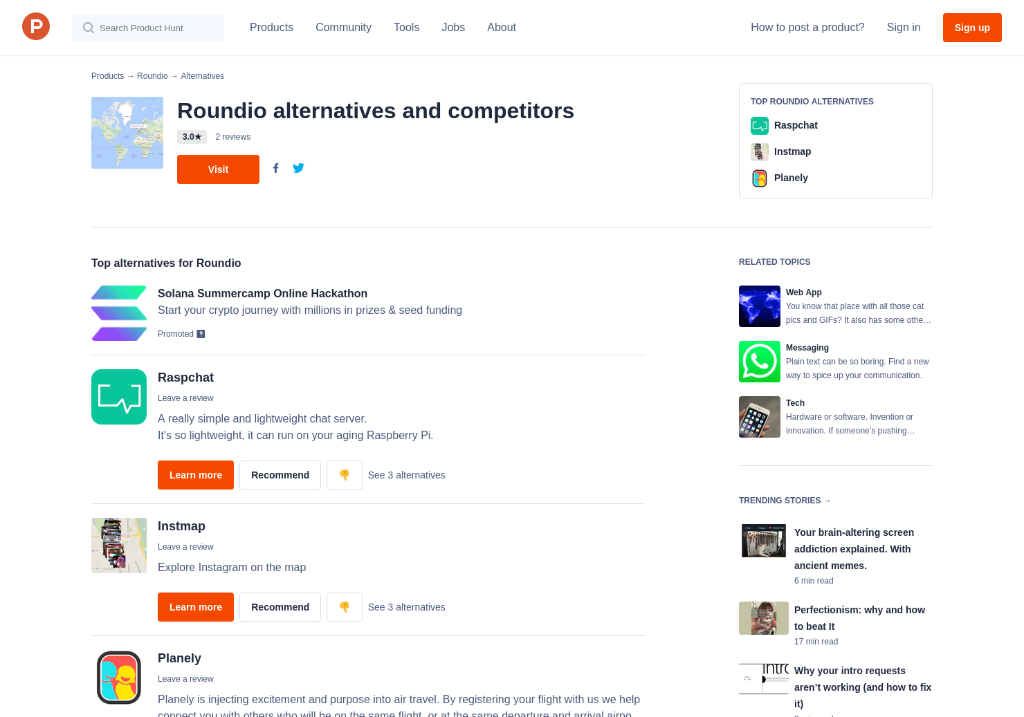 10 Alternatives to Instant Map Chat | Product Hunt on