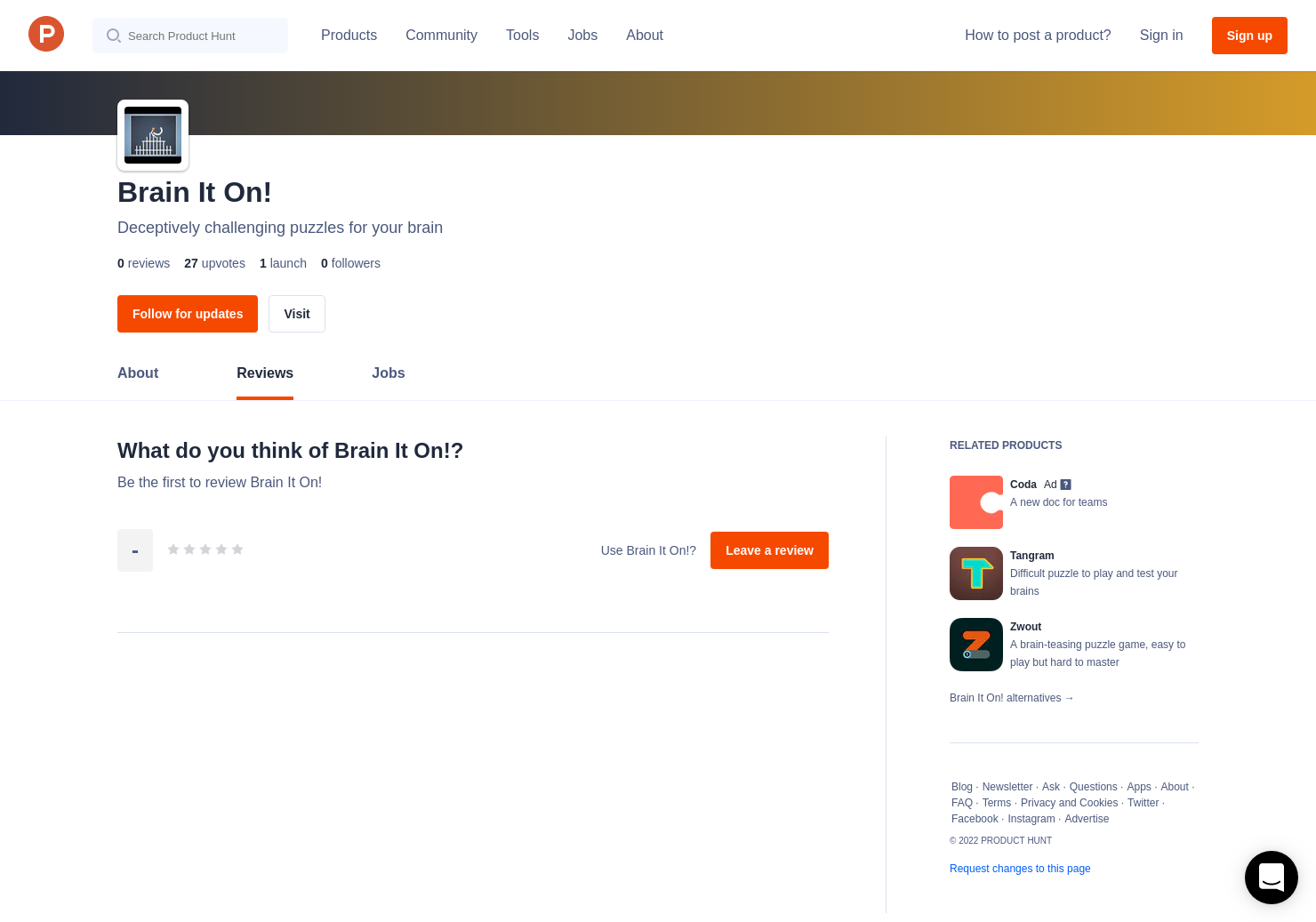 Brain It On! Reviews - Pros, Cons and Rating | Product Hunt