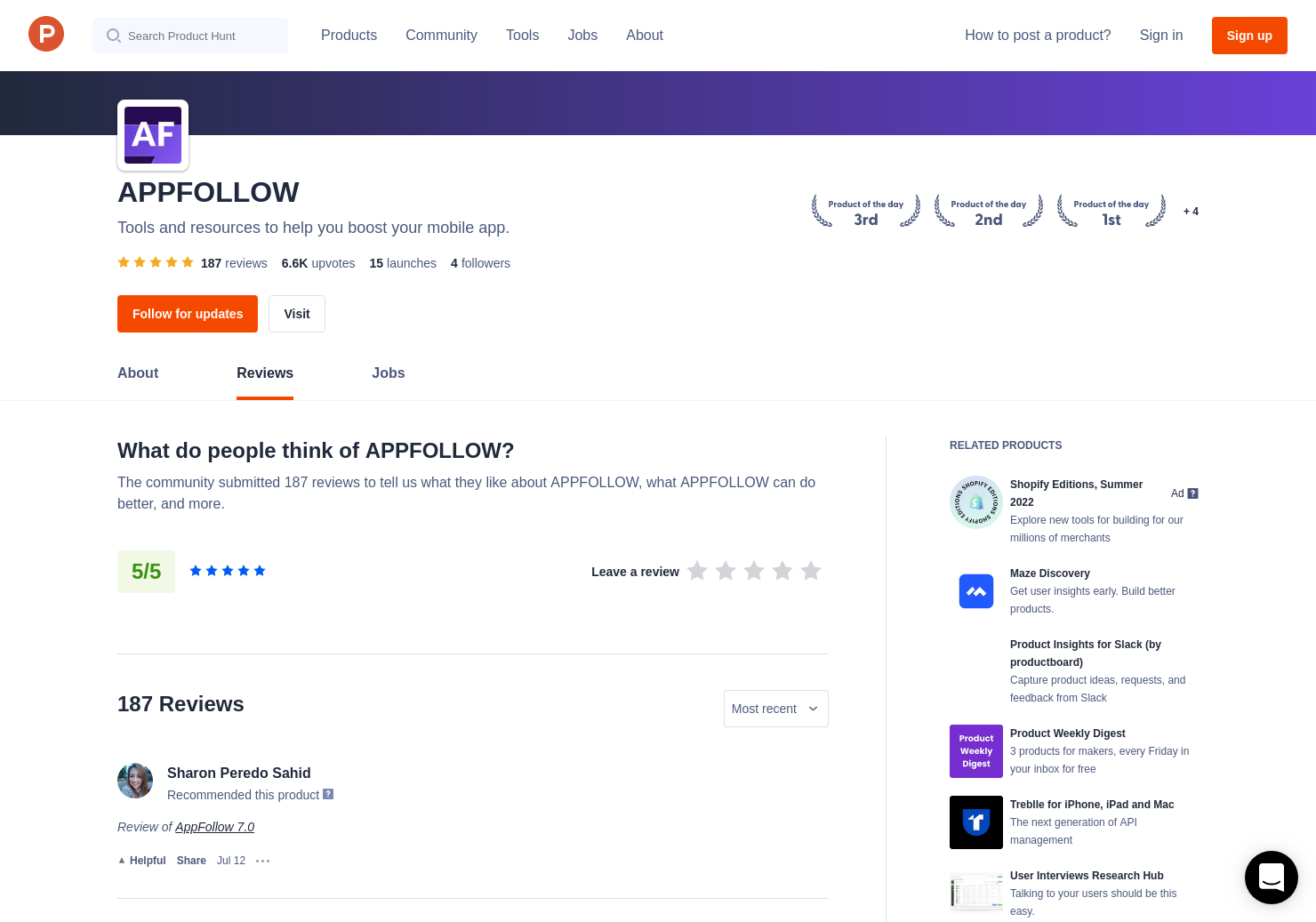 1 ASO Tools by AppFollow Reviews - Pros, Cons and Rating