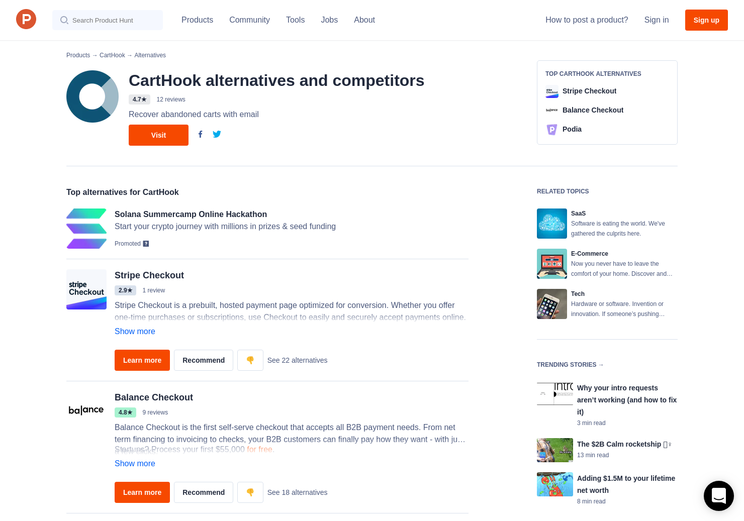 7 Alternatives to One-page checkout for Shopify | Product Hunt