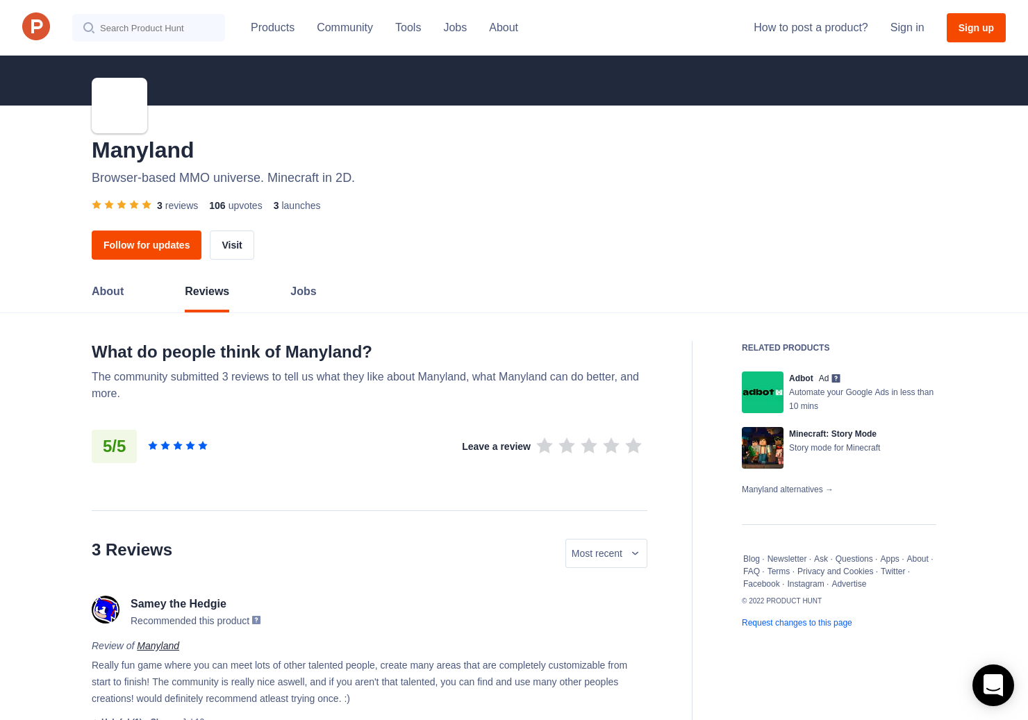 Manyland Reviews - Pros, Cons and Rating | Product Hunt