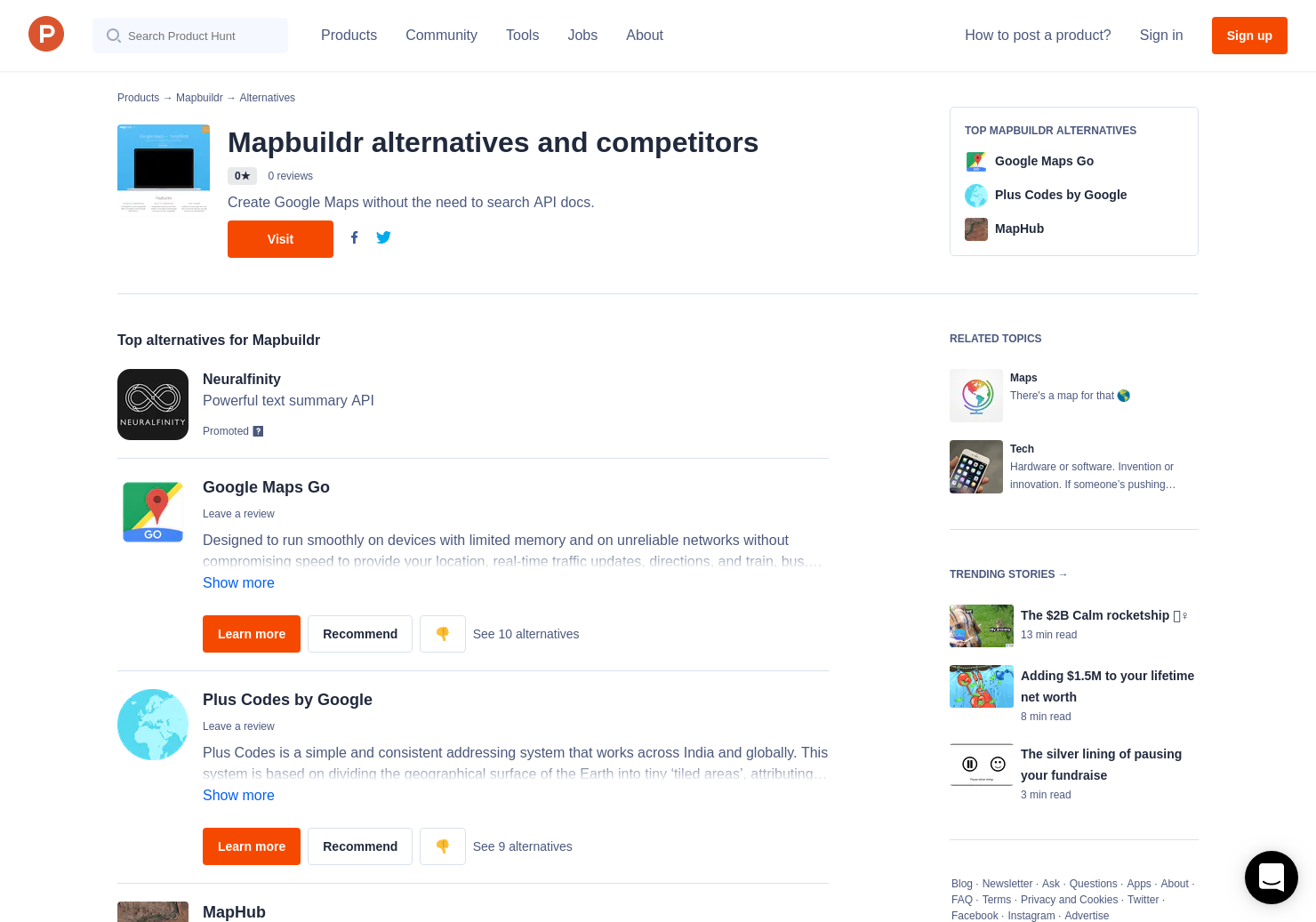 3 Alternatives to Mapbuildr | Product Hunt
