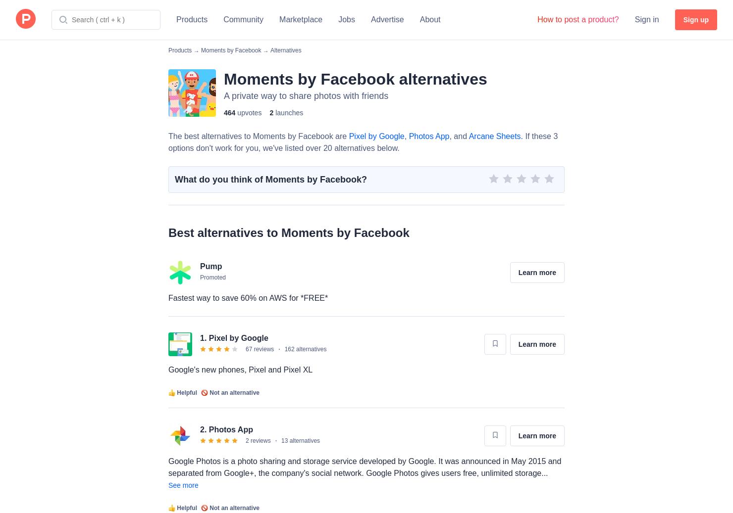 alternative facebook app
