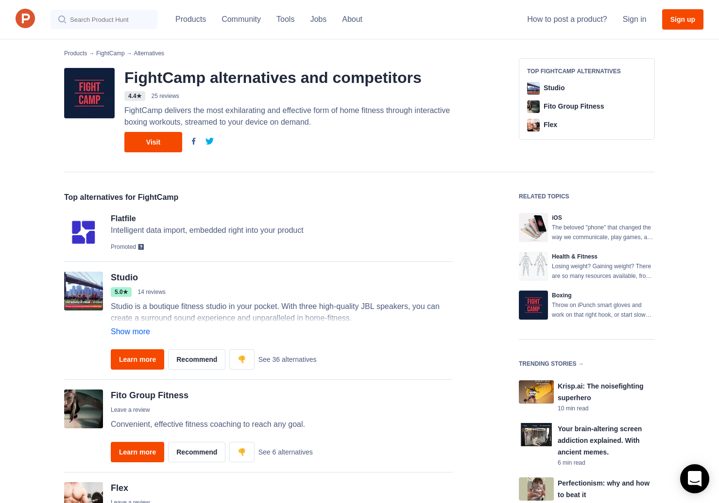 6 Alternatives to FightCamp for iPhone | Product Hunt