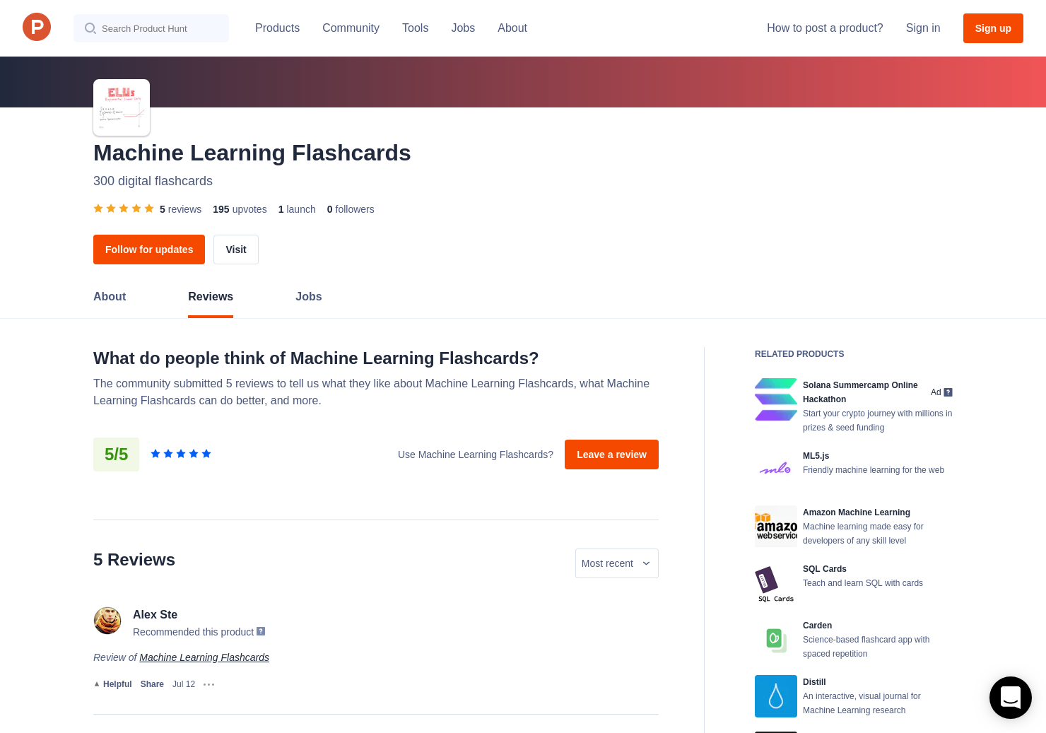 4 Machine Learning Flashcards Reviews - Pros, Cons and