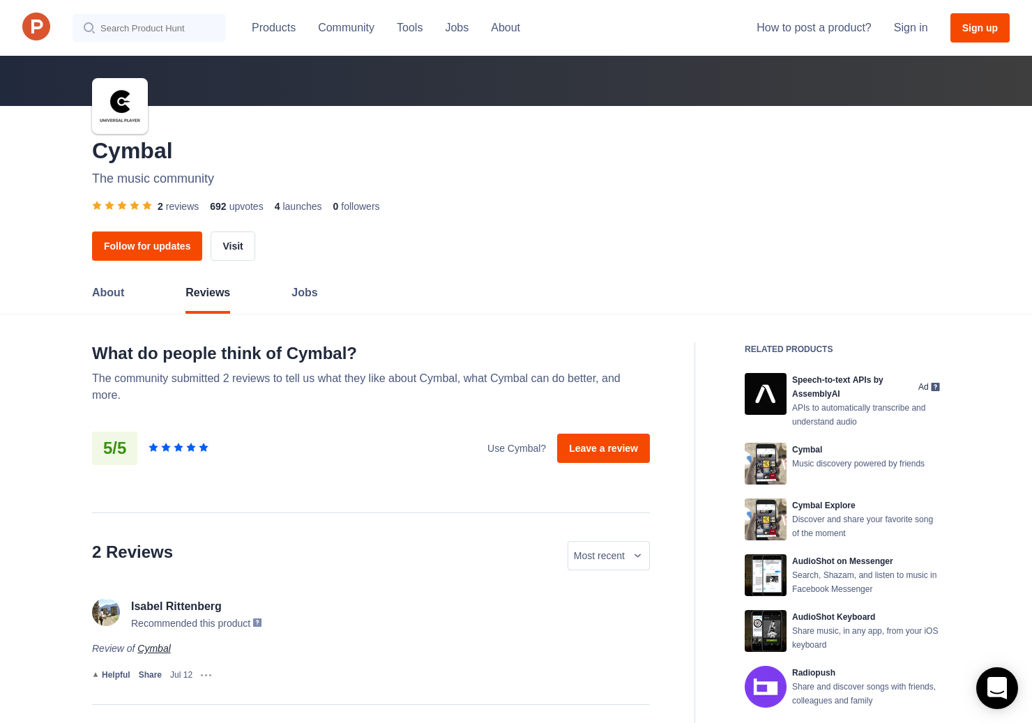 Cymbal Explore Reviews Pros Cons And Rating Product Hunt