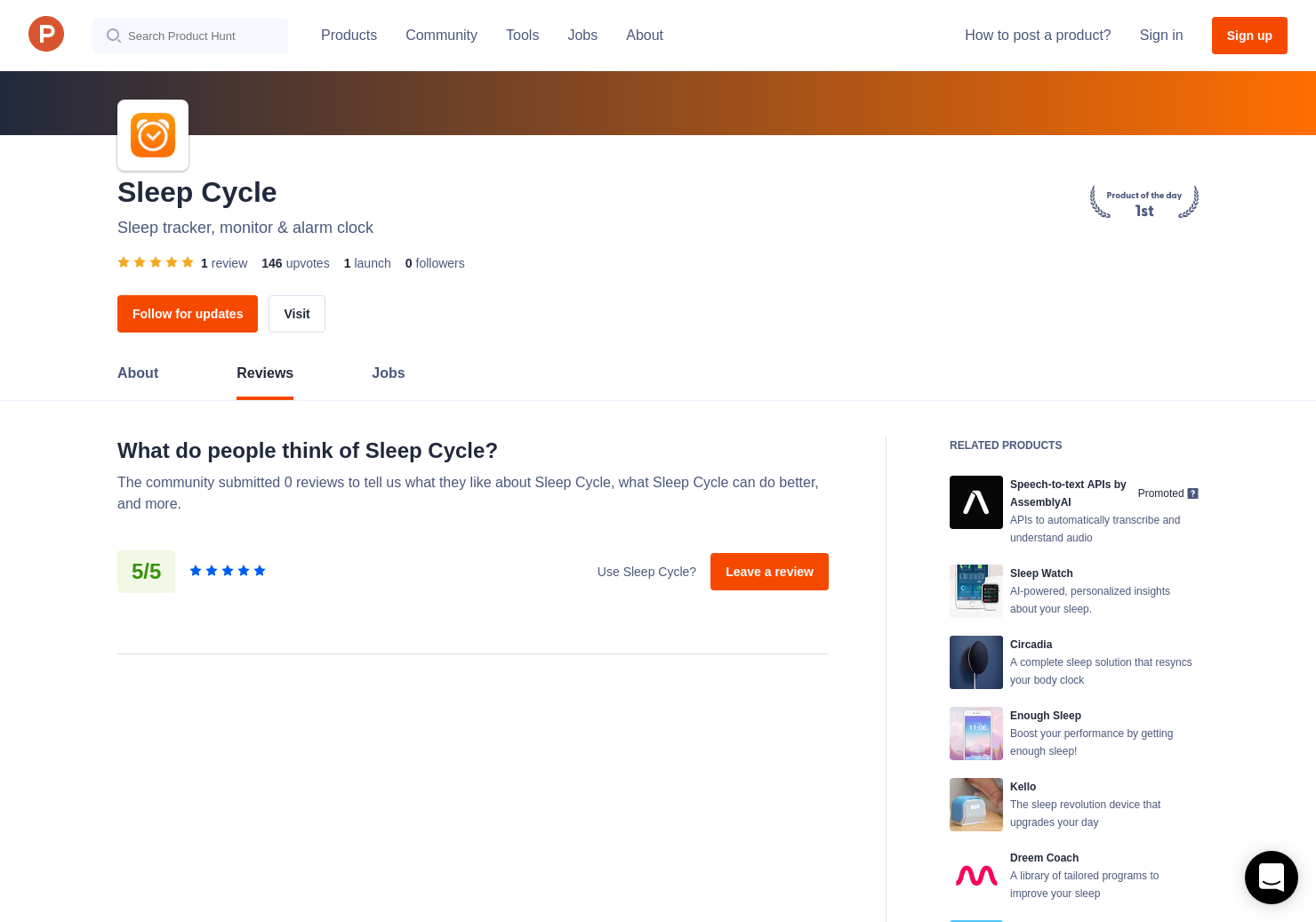 SleepCycle Reviews - Pros, Cons and Rating | Product Hunt
