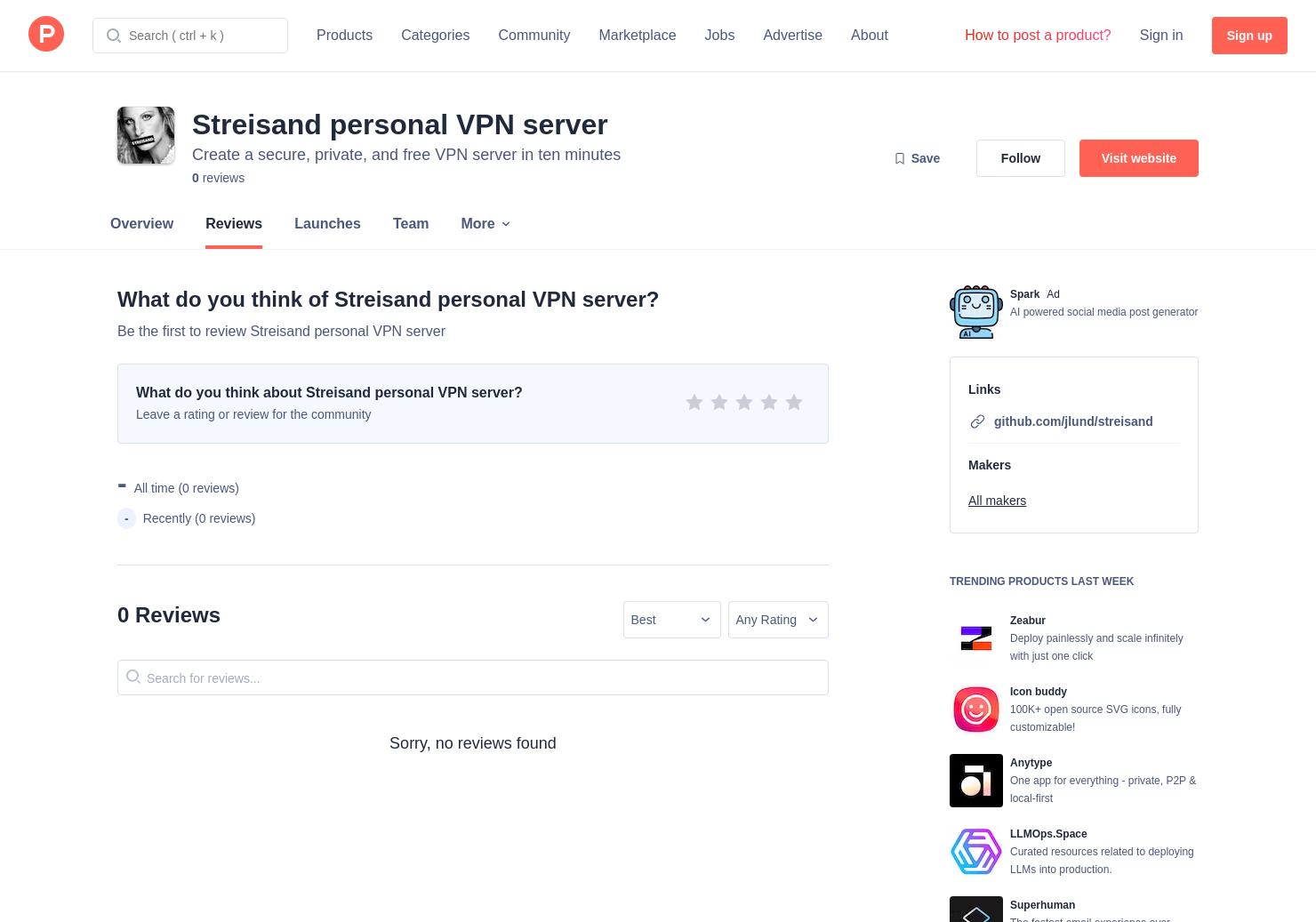 Streisand personal VPN server Reviews - Pros, Cons and