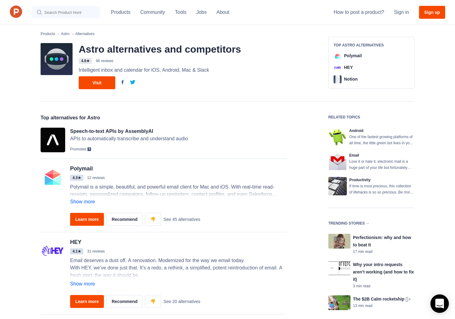 10 Alternatives to Astro for Android, iPhone, iPad, Mac   Product Hunt
