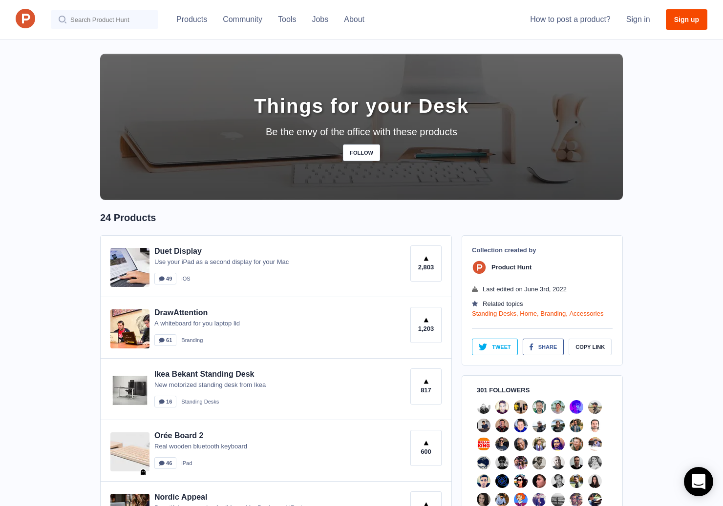 Things For Your Desk Product Hunt