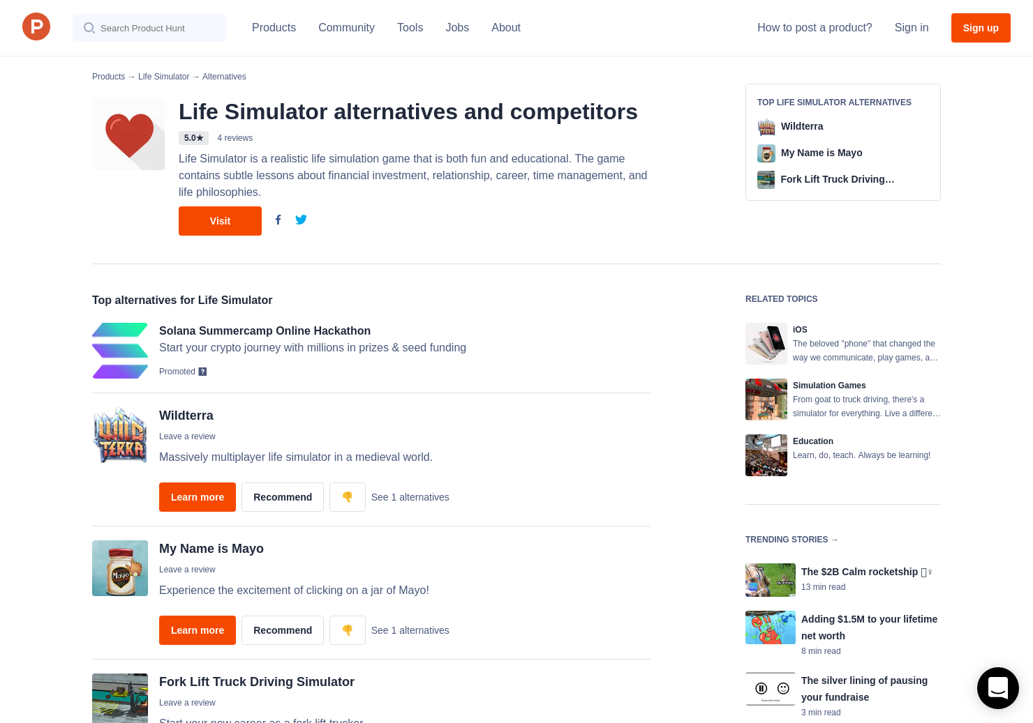 4 Alternatives to Life Simulator for iPhone | Product Hunt