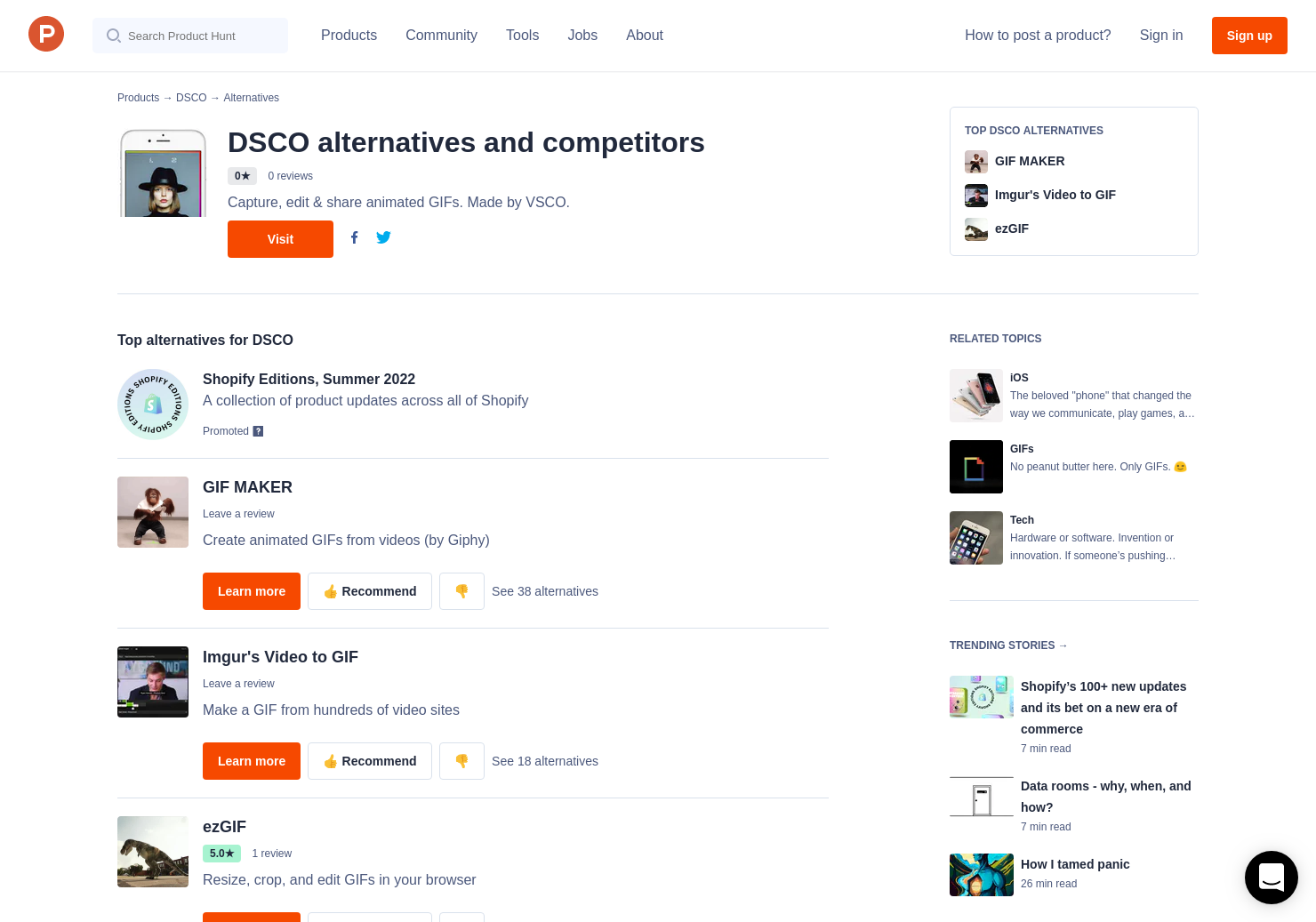 8 Alternatives to DSCO for iPhone   Product Hunt