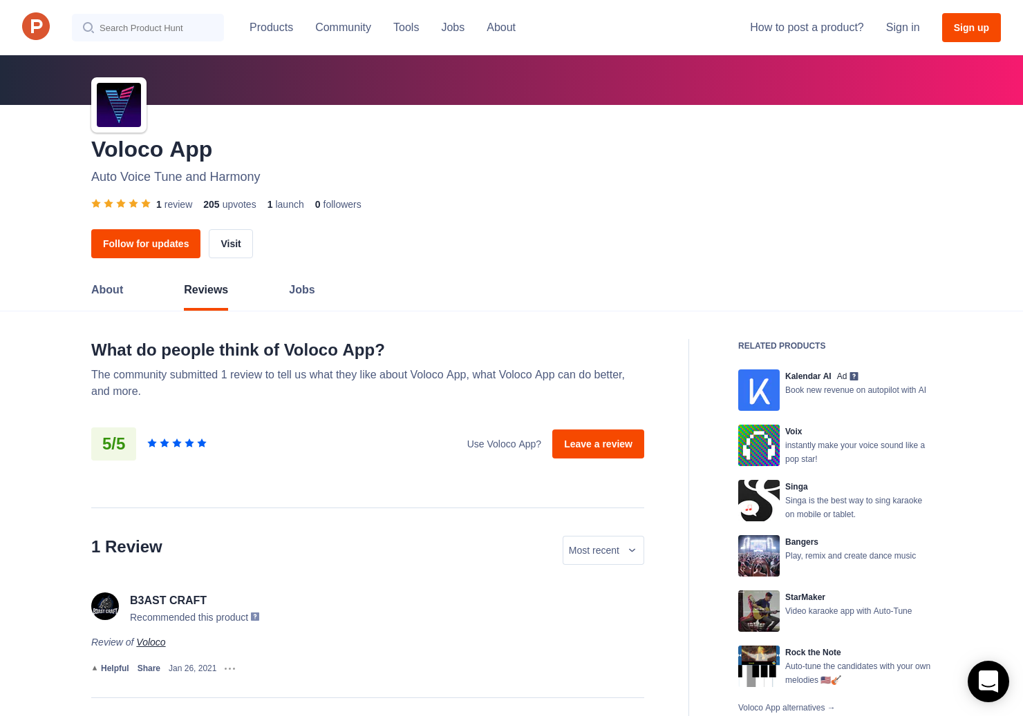 Voloco Reviews - Pros, Cons and Rating | Product Hunt